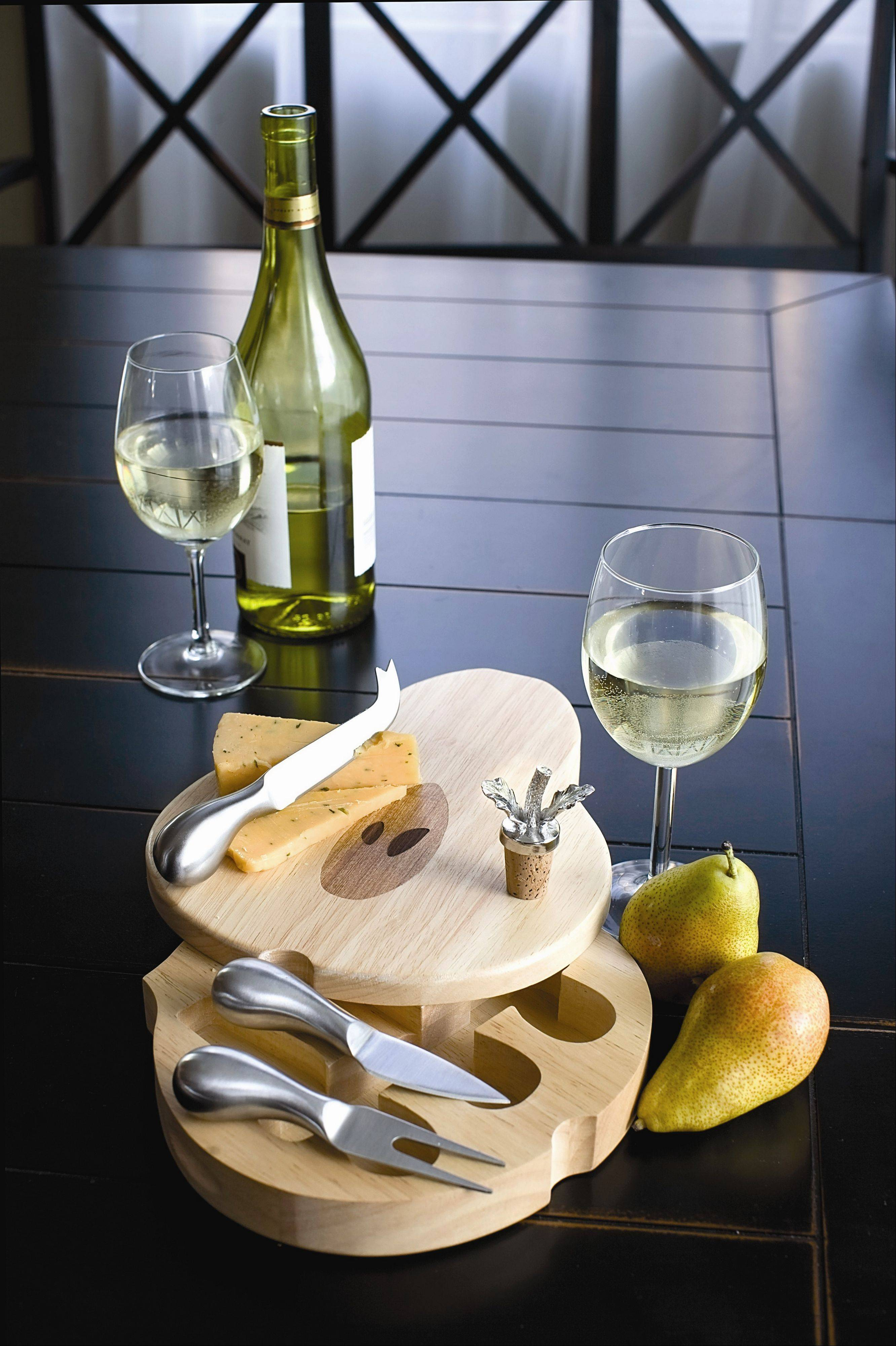 Another hot holiday gift item this year is cheese boards with drawers containing accessories.