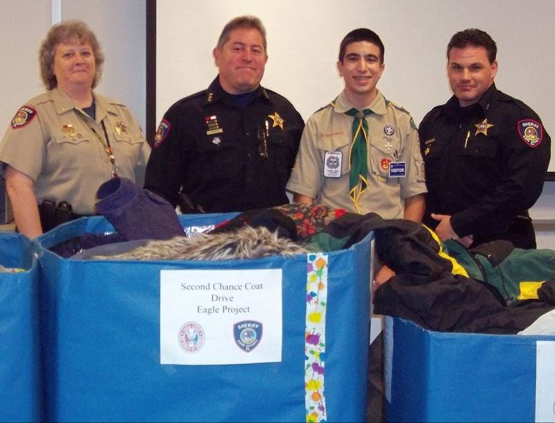 Geneva teen collects coats for sheriff's office
