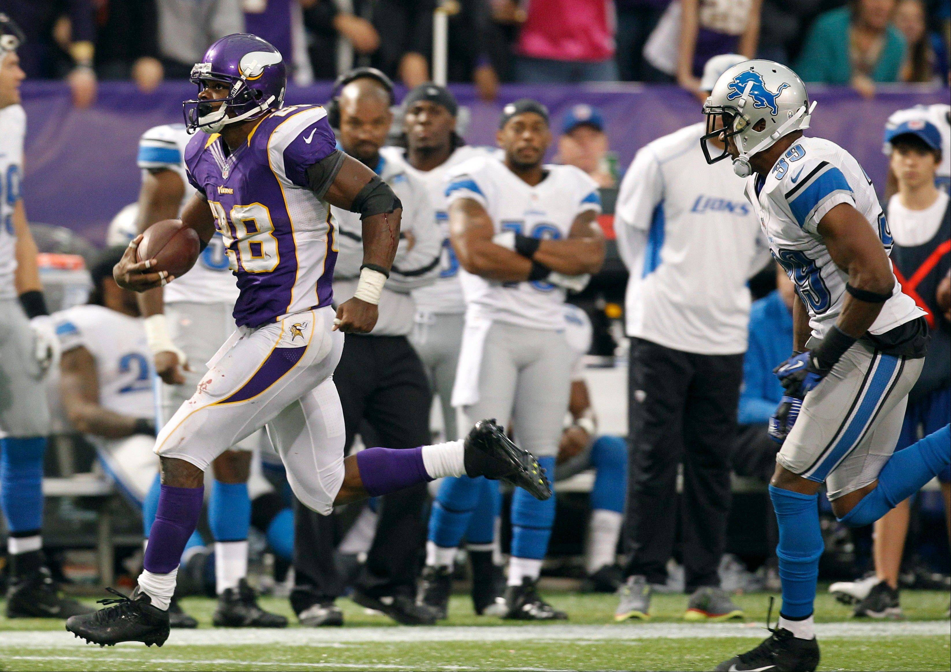 Less than a year after major knee surgery, Vikings running back Adrian Peterson is on pace to finish with the best season of his career.