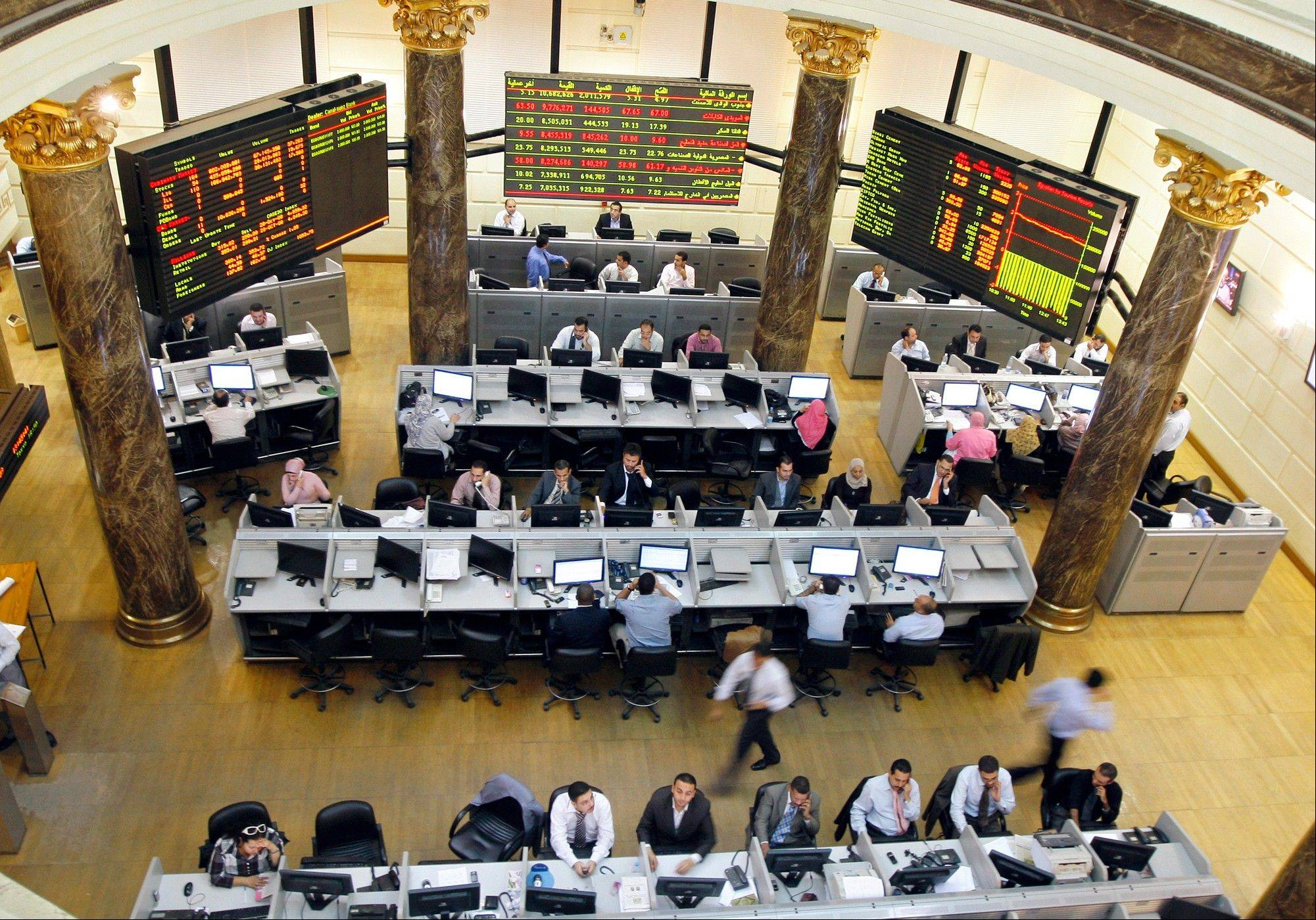 With the opening bell of the country�s stock market on Sunday, the first day of the workweek in Egypt, the turmoil spread from the country�s bitter politics to its already ailing economy.