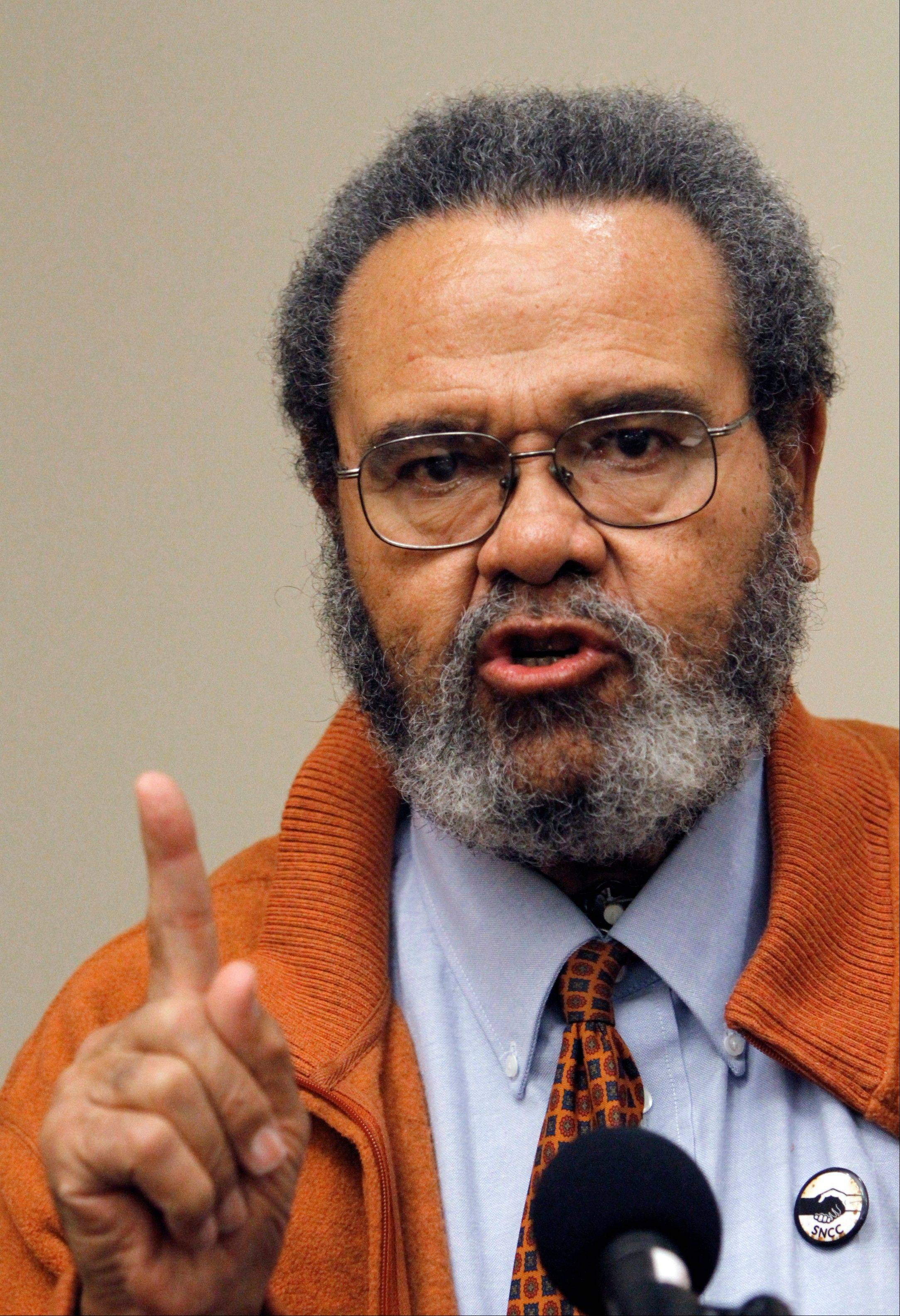 Civil rights leader Lawrence Guyot died late Thursday or early Friday outside Washington, D.C., at the age of 73.