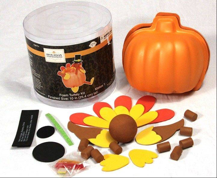 This image provided by the U.S. Consumer Product Safety Commission shows a Foam Pumpkin Turkey Craft Kit. The line of craft kits that resemble a turkey were recalled Friday because the magnets involved in the assembly pose a serious internal injury risk if they are ingested. Other recalls this week included pajamas that fail to meet flammability standards.