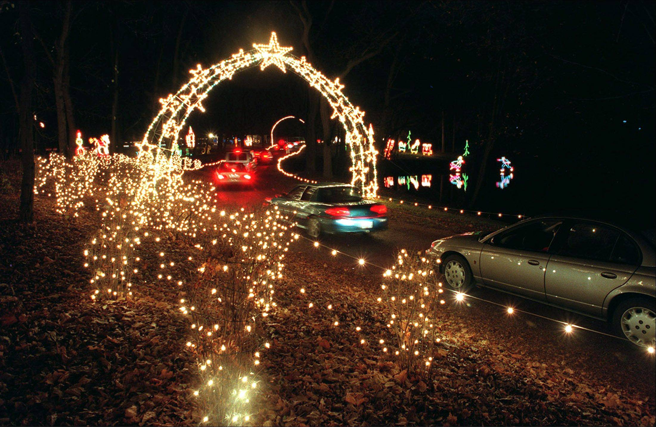 Drive through 97 acres of holiday lights and scenery at the annual Winter Wonderland Holiday Light Show at the Cuneo Museum and Gardens in Vernon Hills.