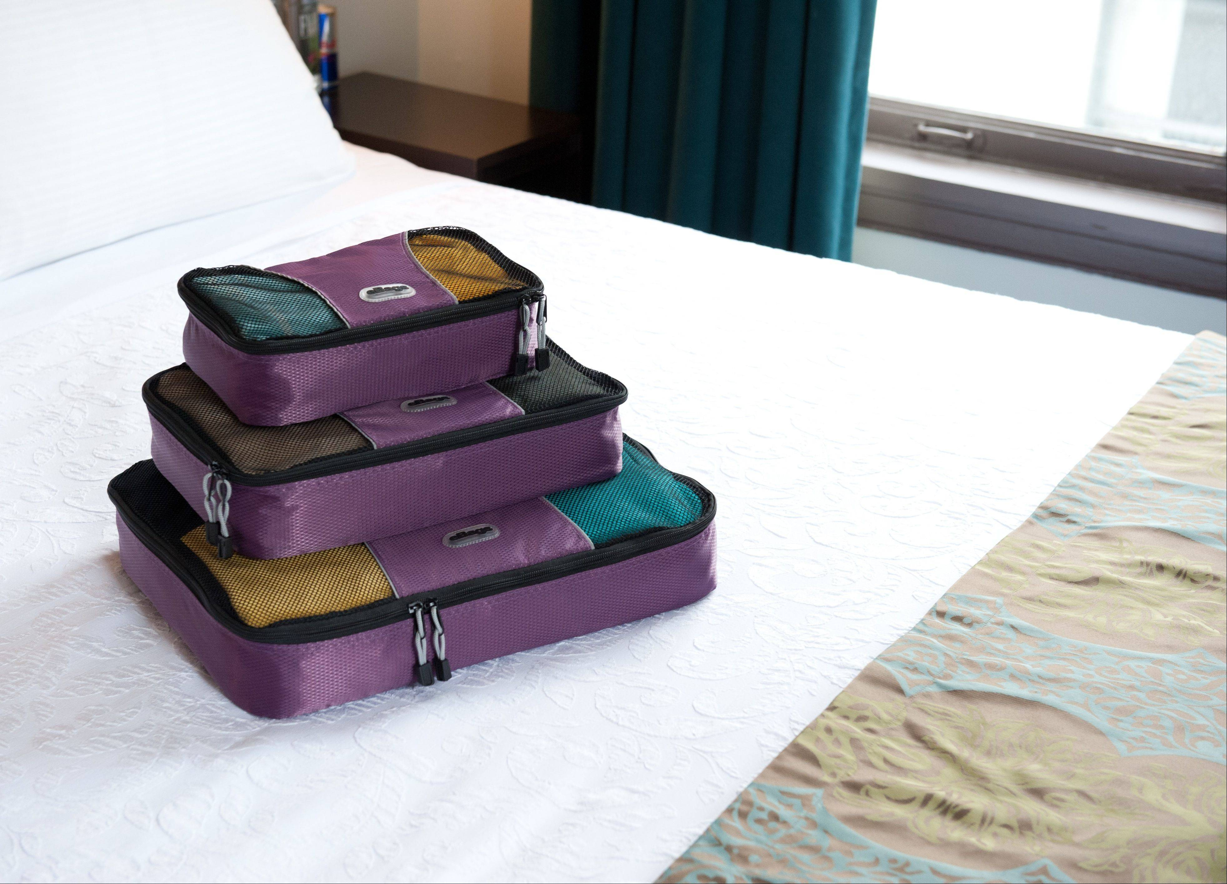 Packing cubes by ebags.com can help travelers organize their belongings and save space when packing for trips.