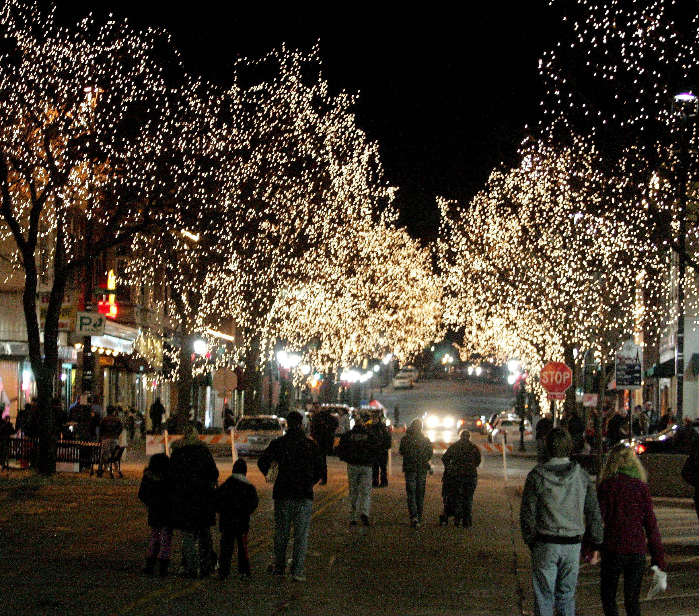 The Grand Illumination is part of the Hometown Holidays in downtown Naperville.