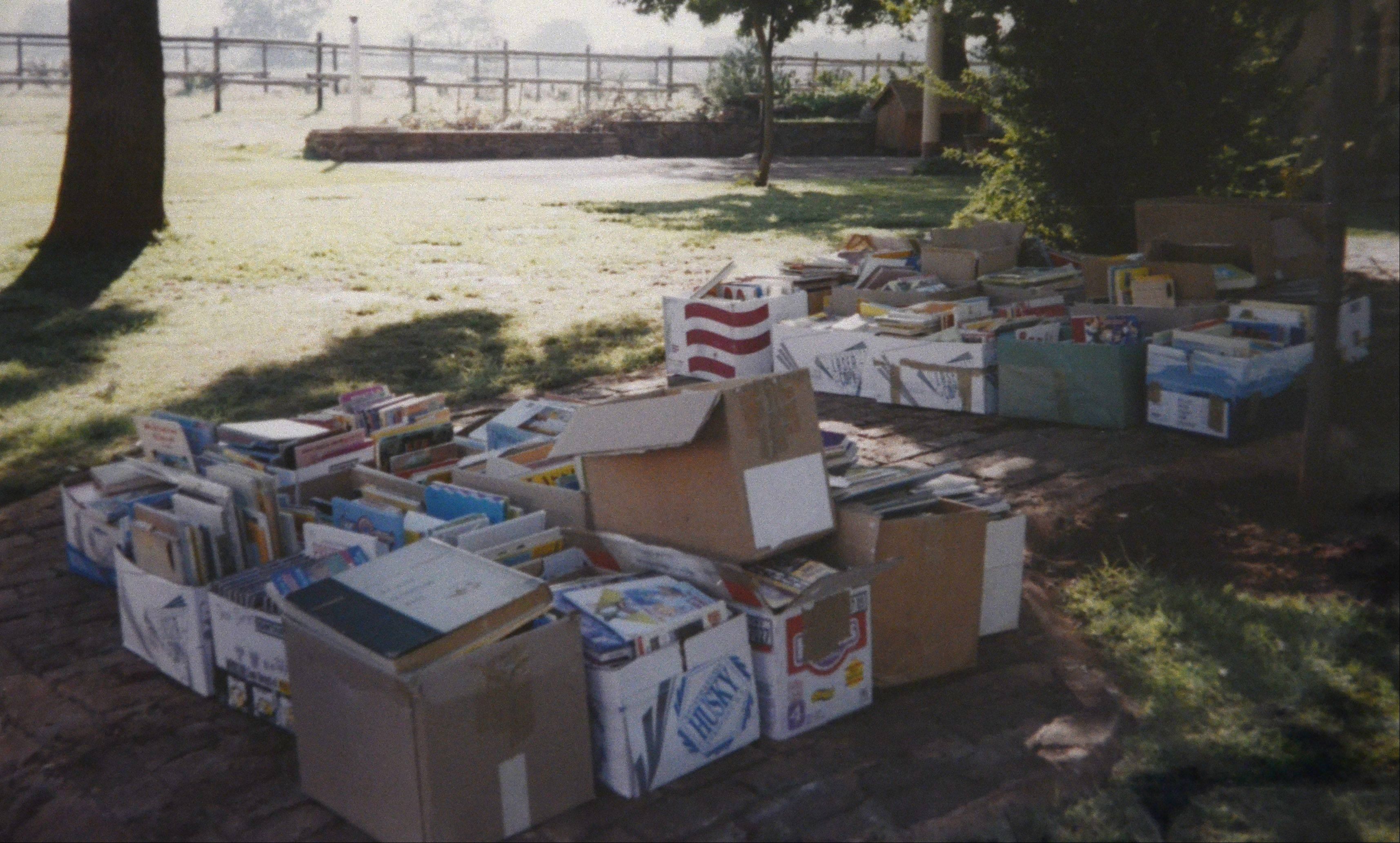 Mary Stitt helped collect 640 boxes of books for people in Africa.