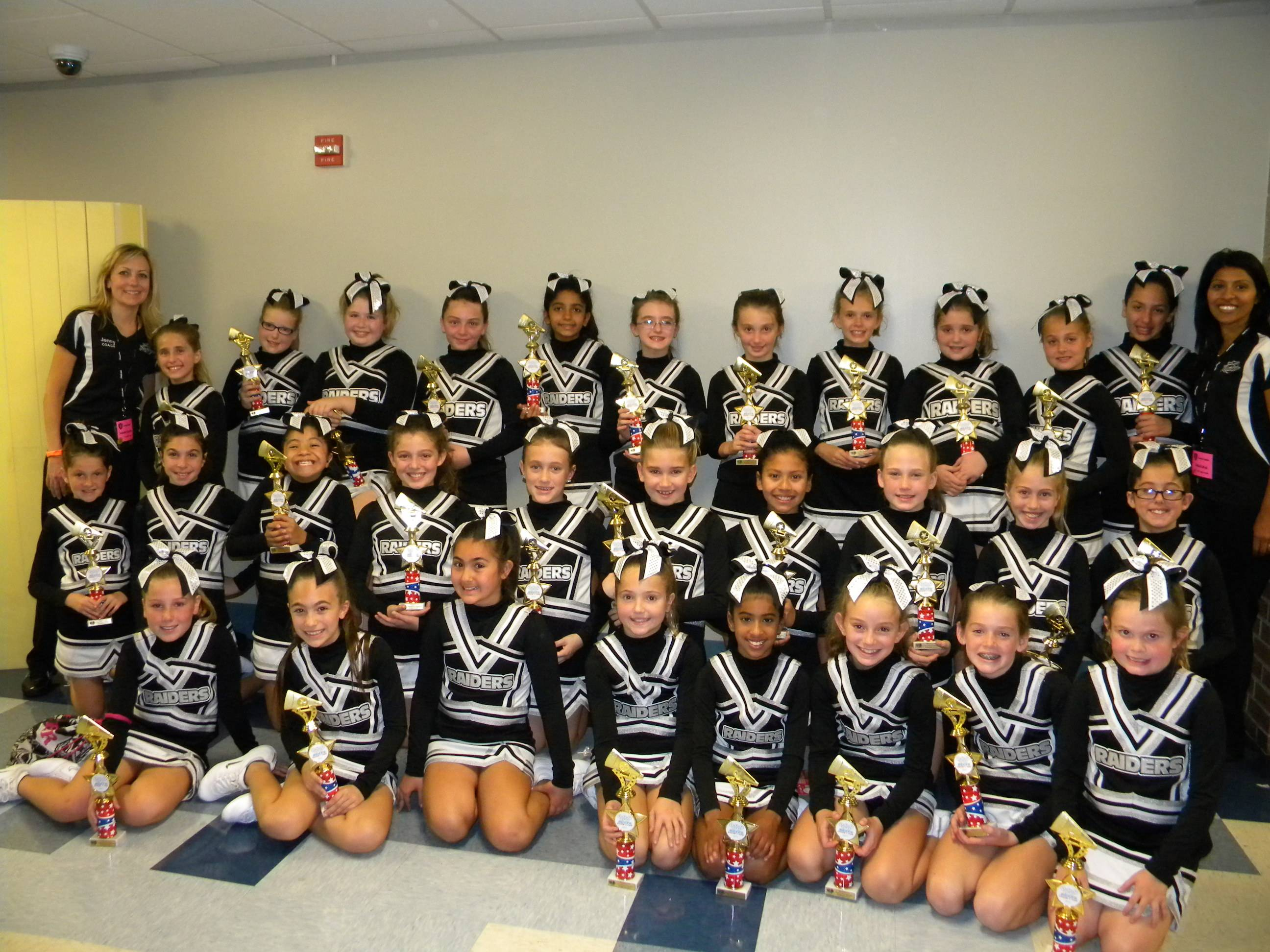 5th Grade Bartlett Raiders Cheer Squad at the BGYFL Cheer Competition, Willowbrook High School, October 21, 2012