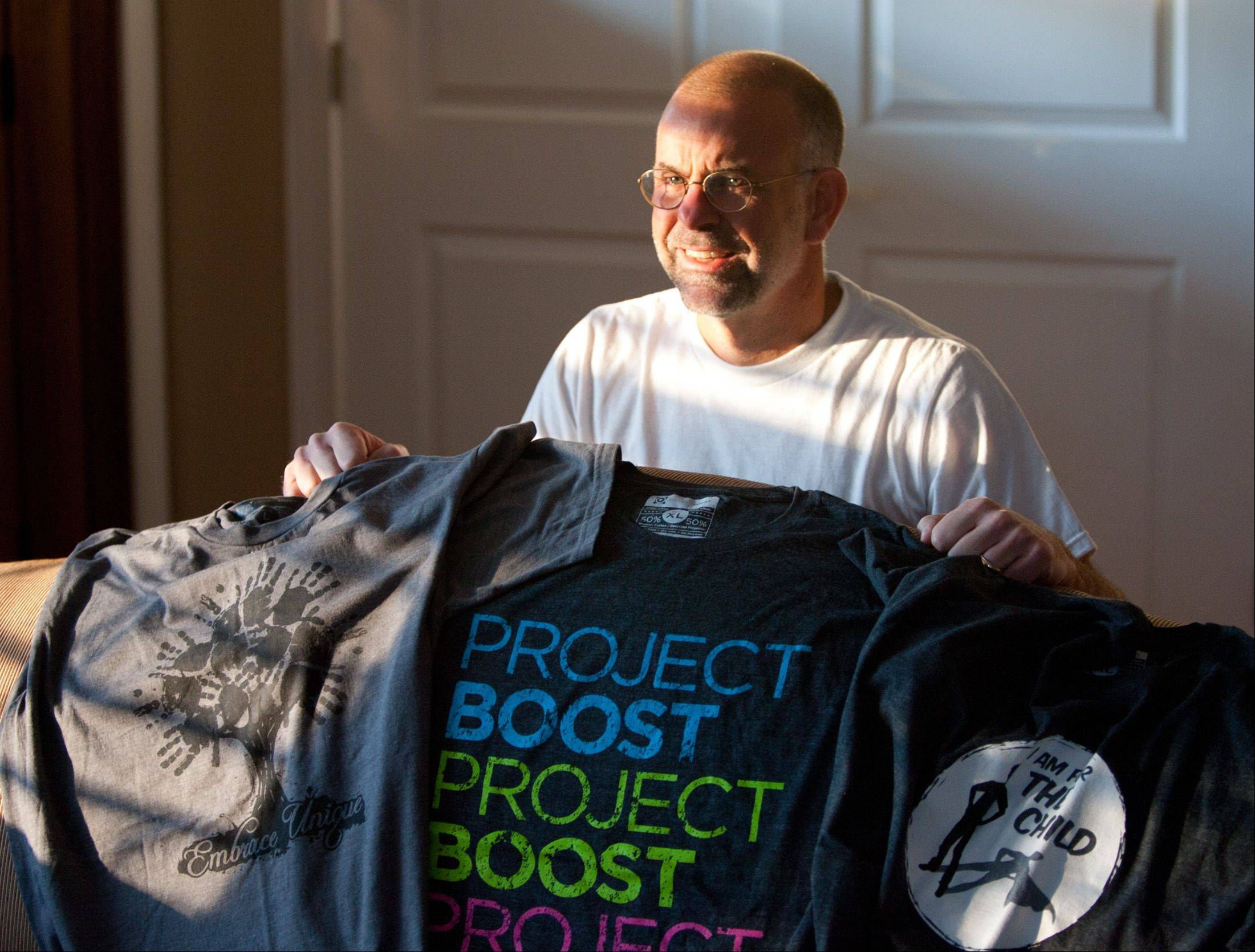 Shaun Emerson of Glen Ellyn was looking for a career change when he hit on the idea of using his business skills to draw attention to local charities. The result is ProjectBoost, which creates and sells unique T-shirt designs for nonprofit groups.