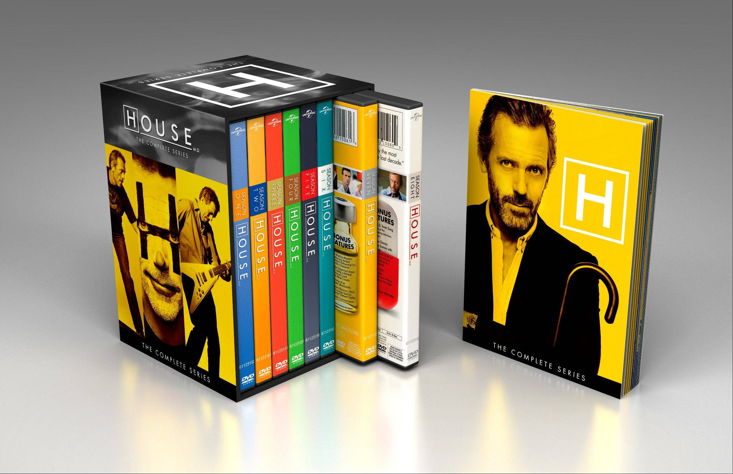 """House: The Complete Series"" features 41 discs with all 176 episodes of the Fox drama."