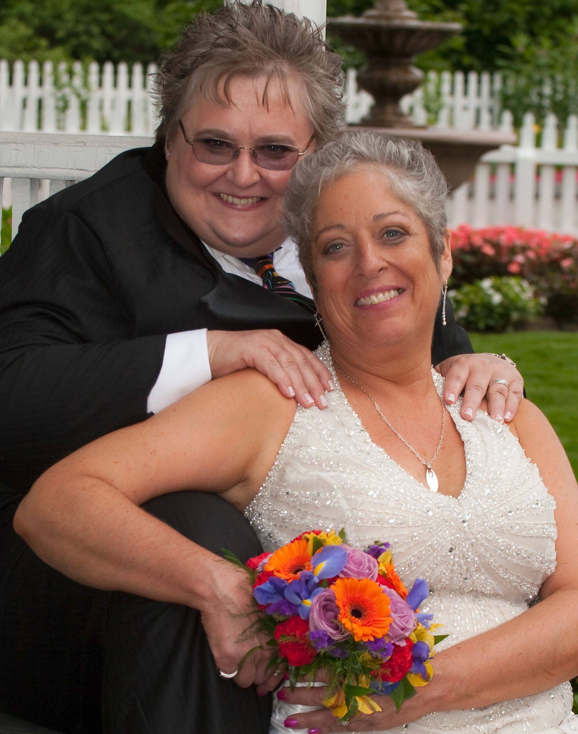 Dayle and Deeya Roberts of Lake Zurich were married in Attleboro, Mass., in 2009. They say Illinois� civil union law is a step in the right direction but insufficient.