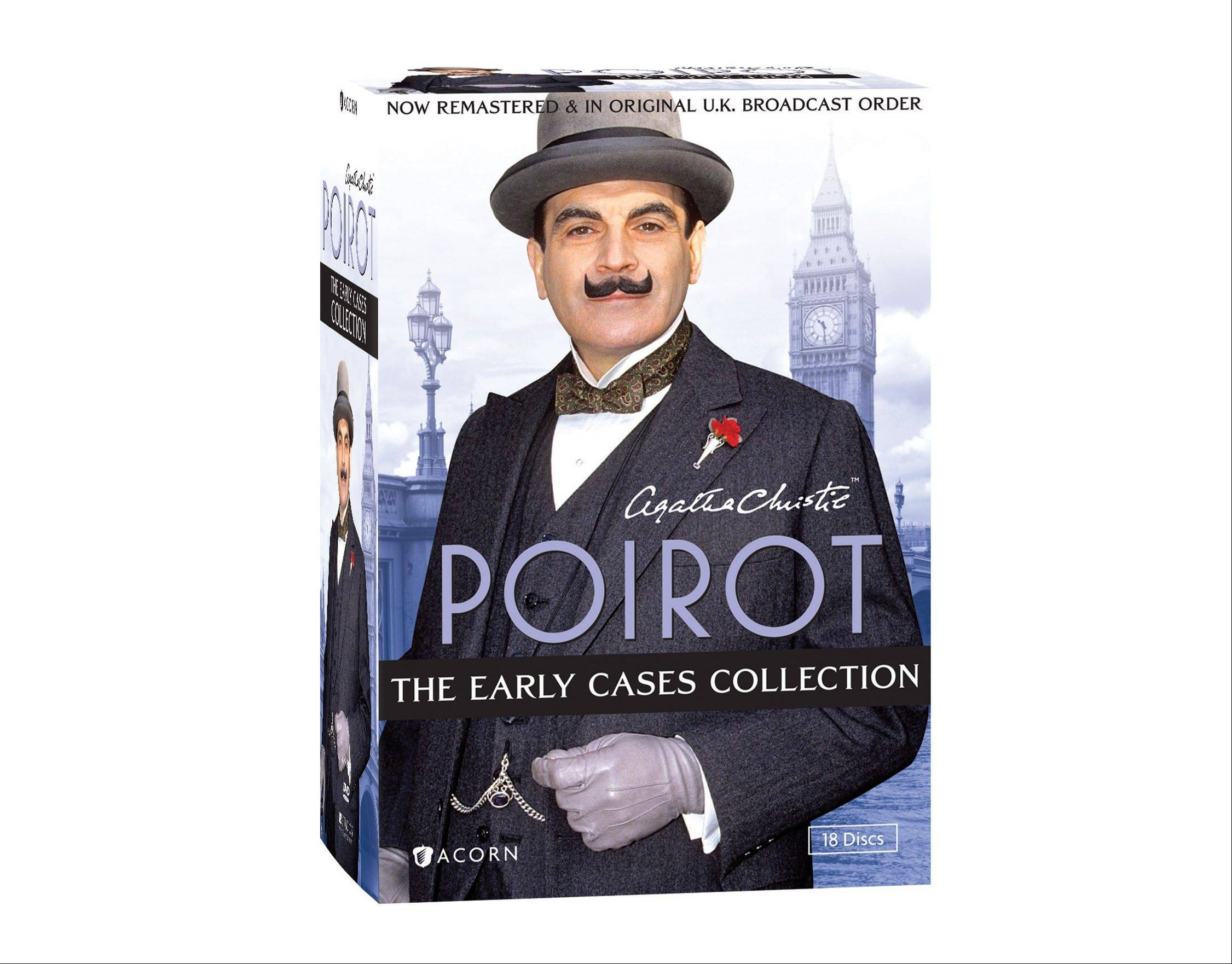 """Poirot: The Early Cases Collection"" spotlights Agatha Christie's most famous sleuth. He is on the case in 45 whodunits from the first six series of the TV phenomenon starring David Suchet in the title role."