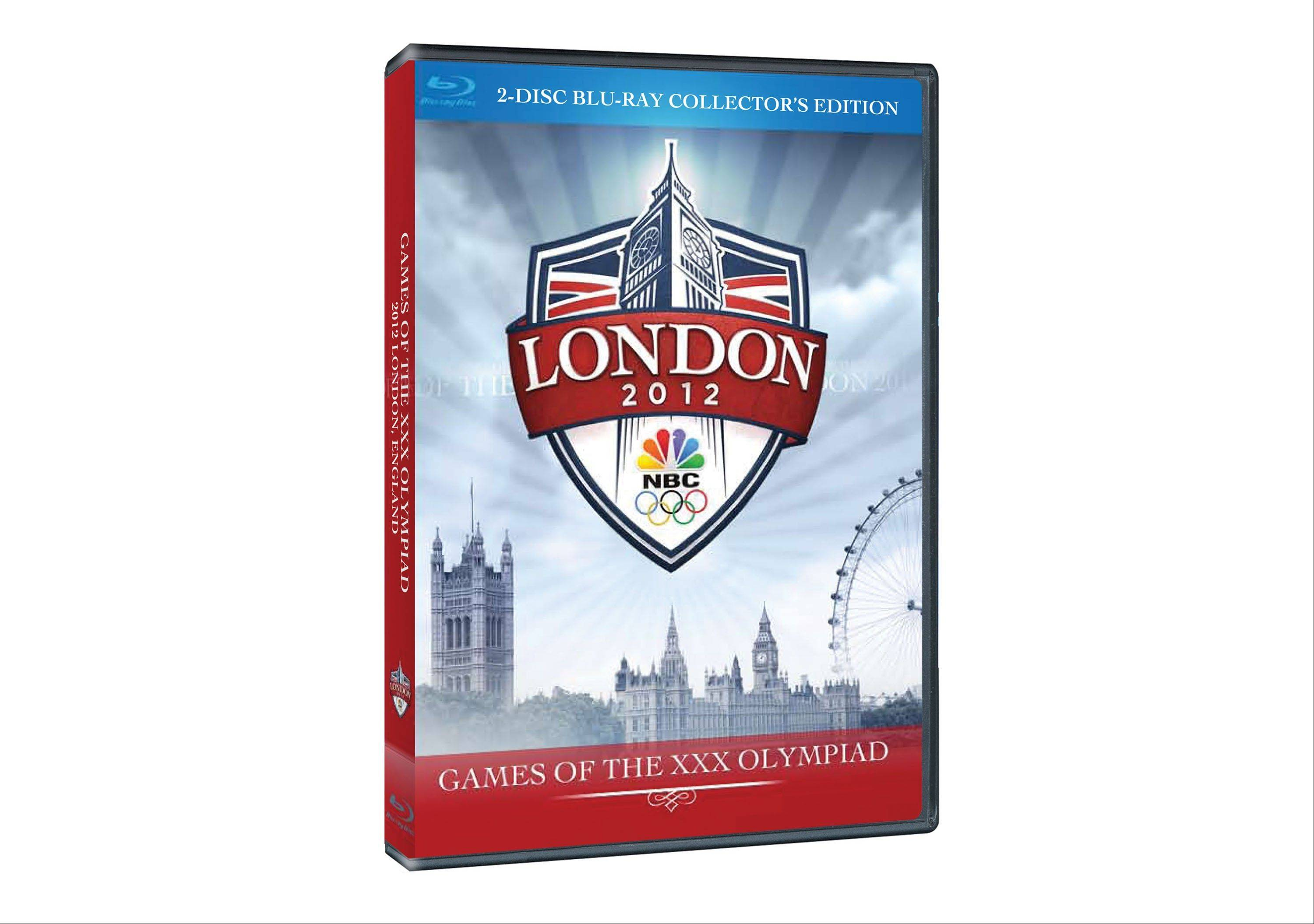 """Holiday Exclusive 2012 London Olympics DVD Set"" includes one disc spotlighting American stars at the Summer Games and another focusing on the gymnastics competition."