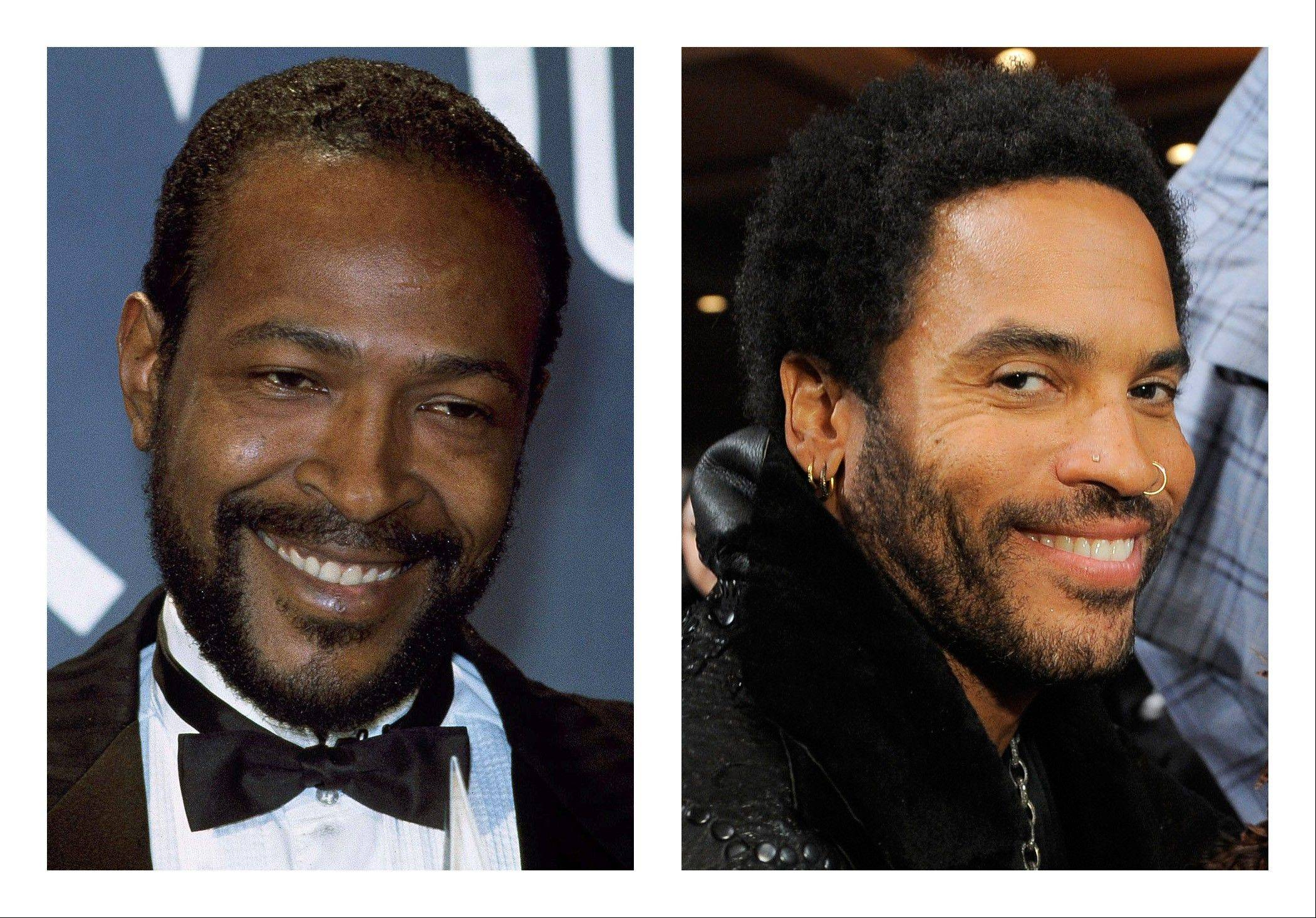 Lenny Kravitz, right, has signed on for his first leading film role, playing singer Marvin Gaye in a biopic that will be shot in 2013.