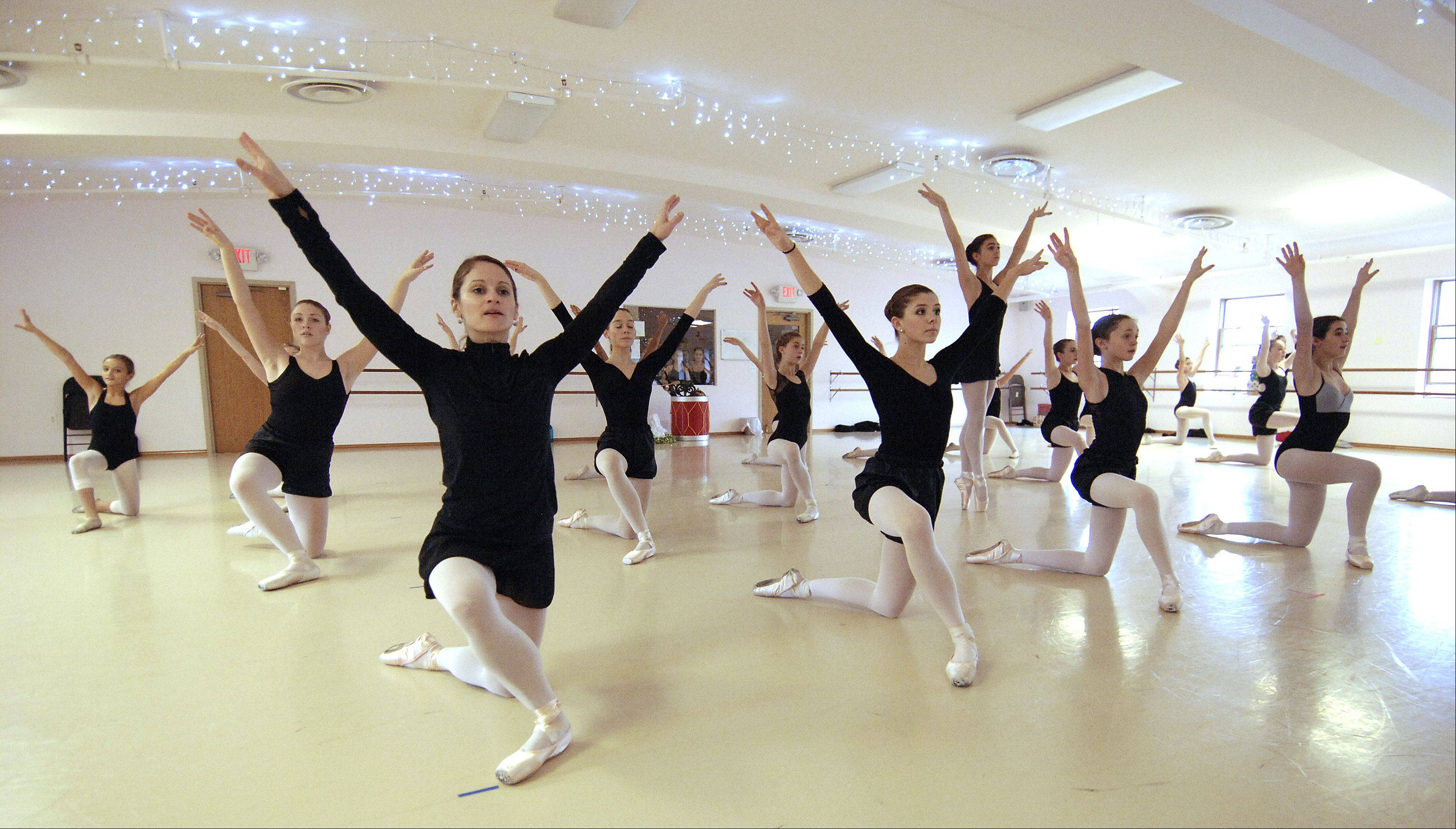 "State Street Dance Studio in Geneva rehearses for its upcoming production of ""The Nutcracker"" at the Batavia Fine Art Centre. Cast members have been rehearsing every Sunday for many weeks."