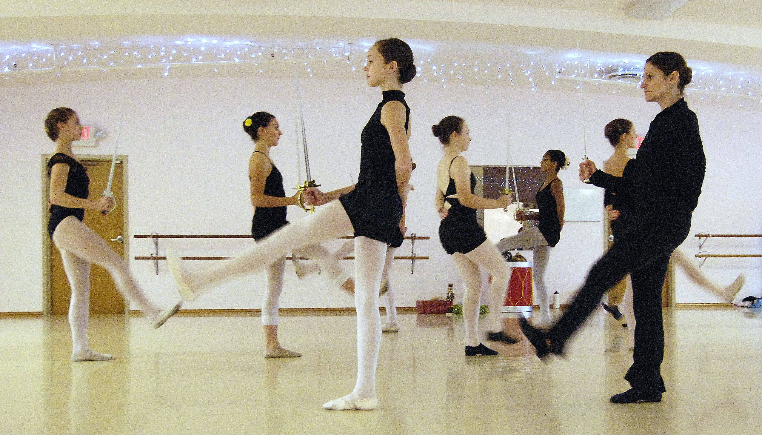 "Dancers rehearse for their upcoming production of ""The Nutcracker"" at the Batavia Fine Art Centre. This is State Street Studio's ninth annual ""Nutcracker"" production, and will be held for the first time at the Batavia Fine Arts Centre"