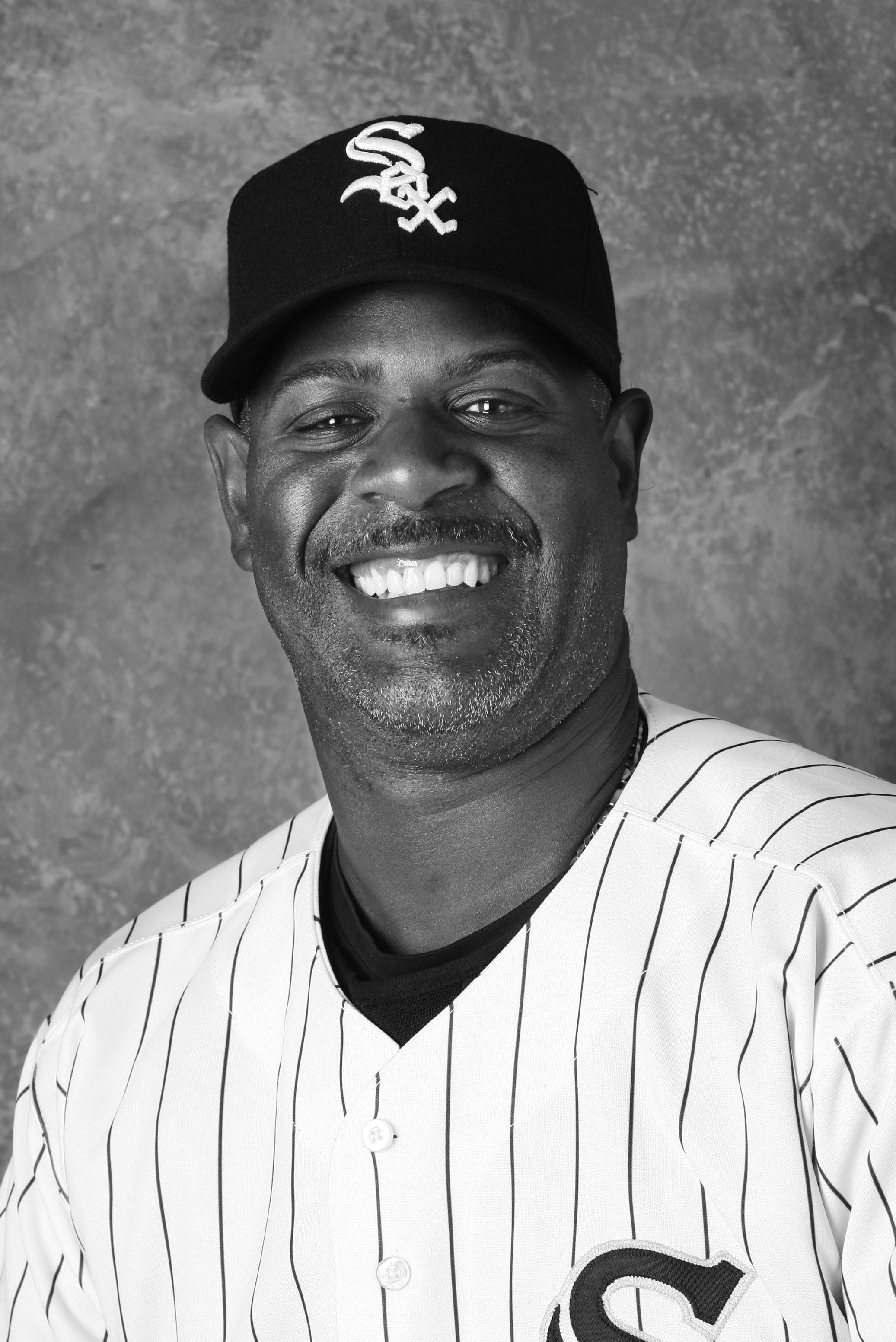 White Sox first-base coach Daryl Boston.