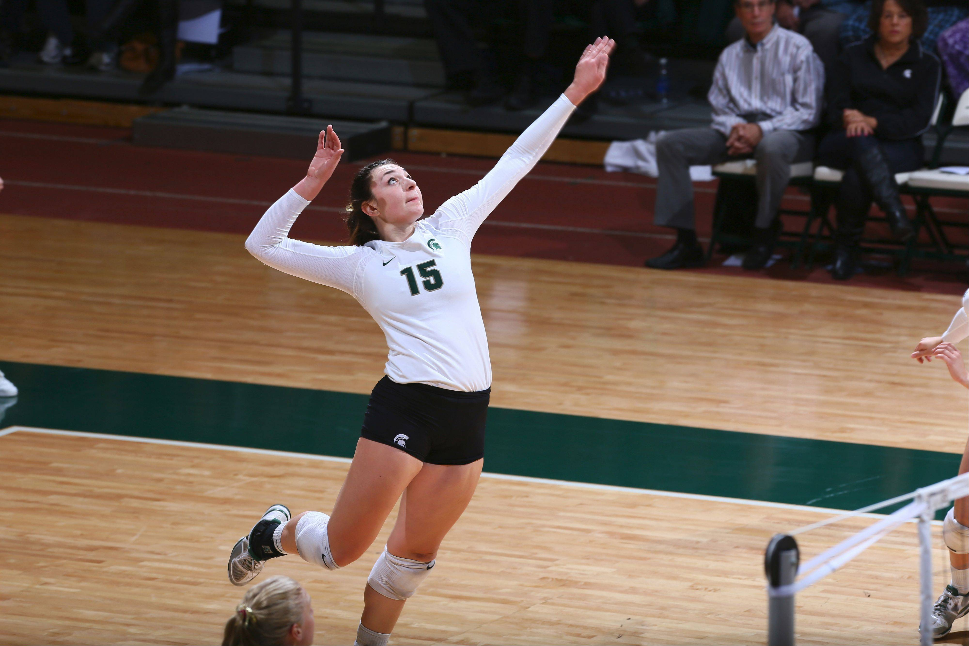 Michigan State outside hitter Lauren Wicinski of Geneva was a unanimous All-Big Ten First Team honoree in her first season in the conference after transferring from Northern Illinois University.
