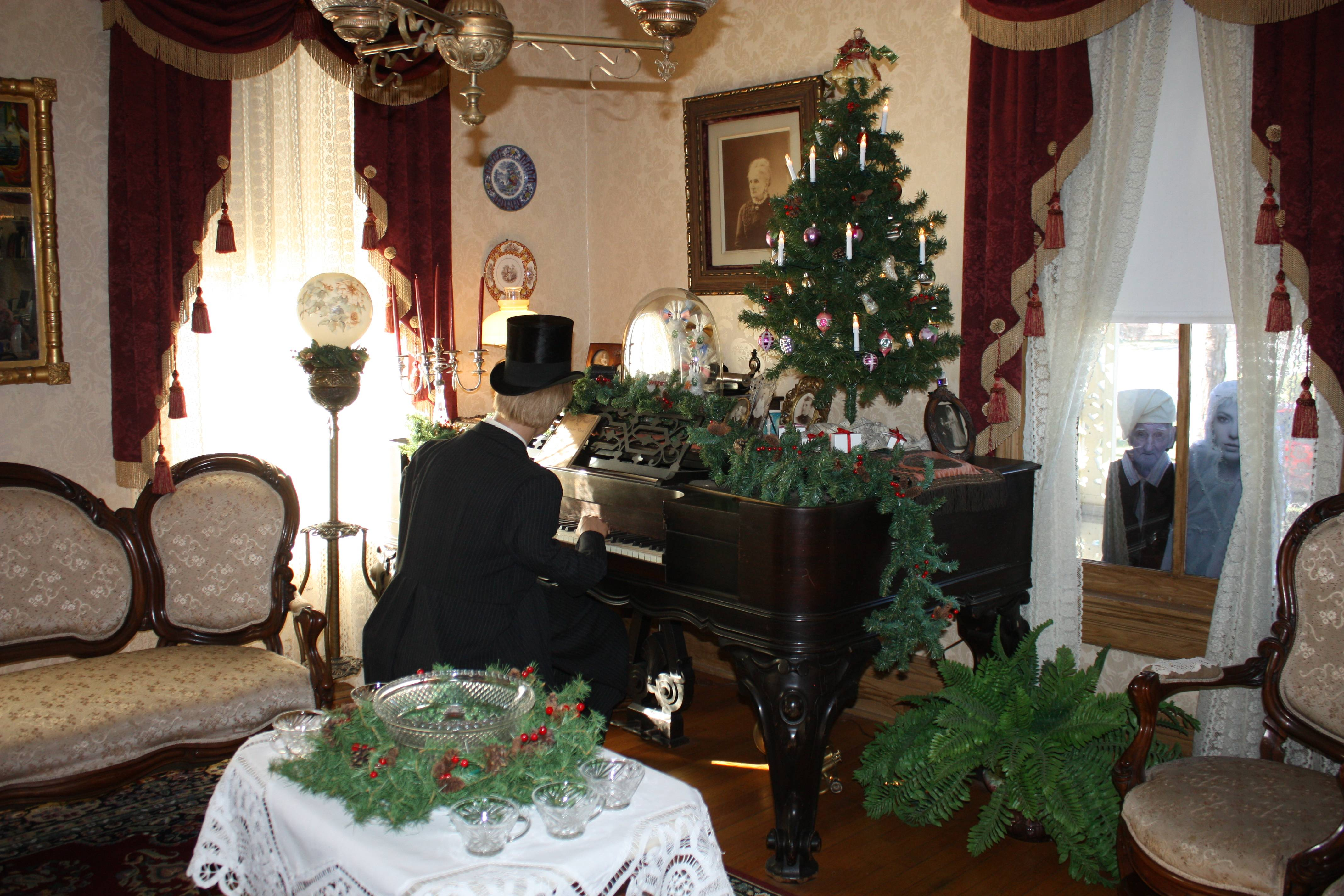 The front parlor of the Clayson House is already decorated for this weekend's Open House.