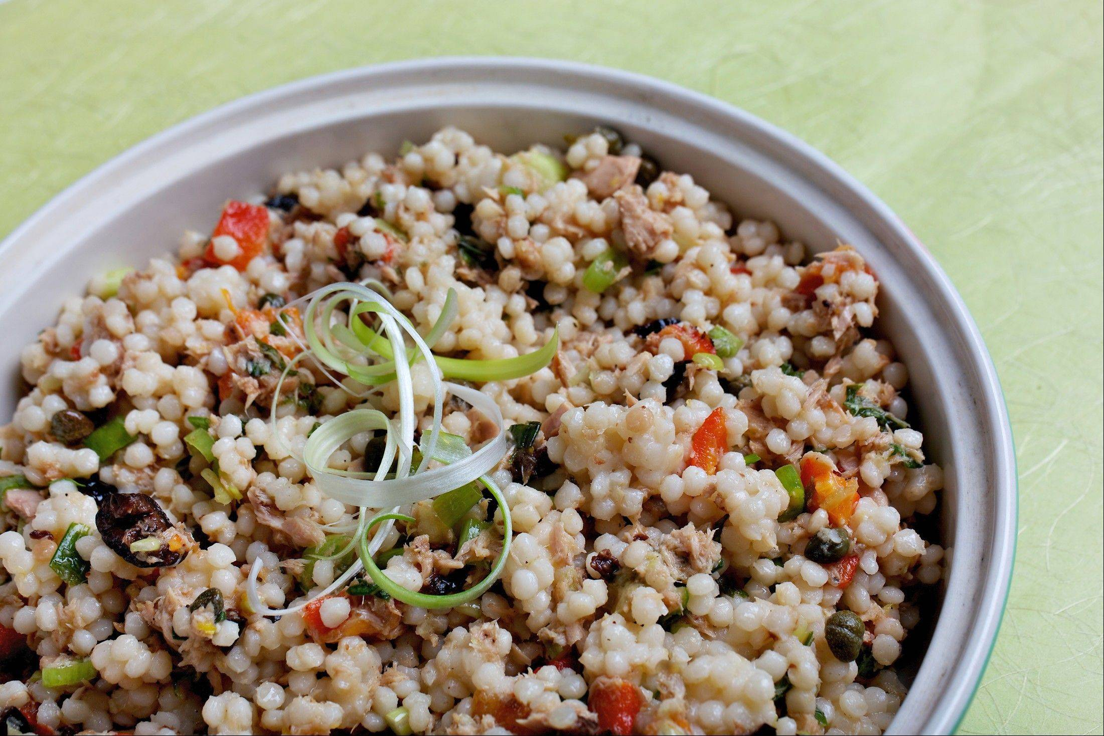Israeli Couscous and Tuna Salad