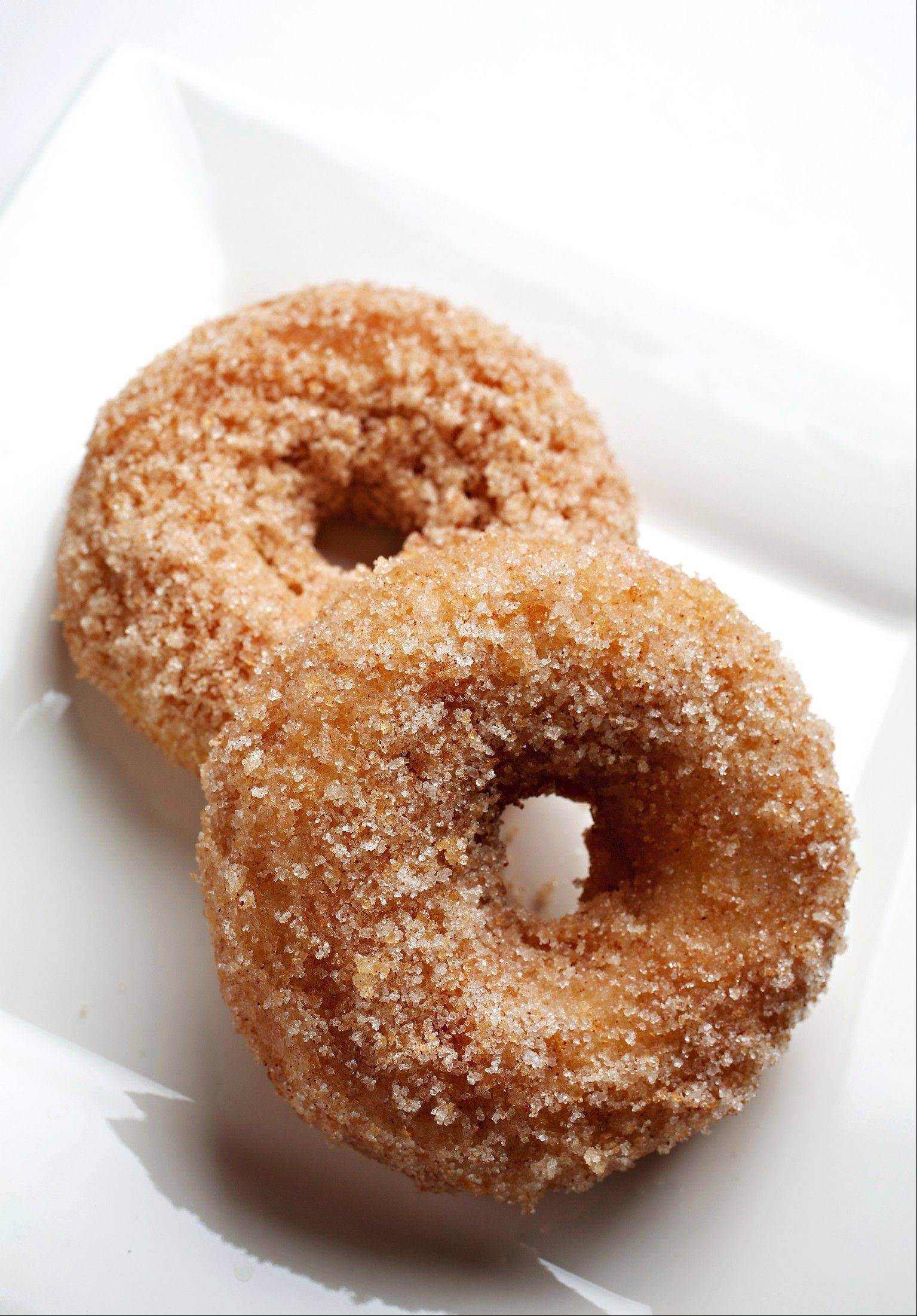 Serve Cinnamon Baked Doughnuts warm with hot chocolate for a fine comforting dessert on a chilly night.