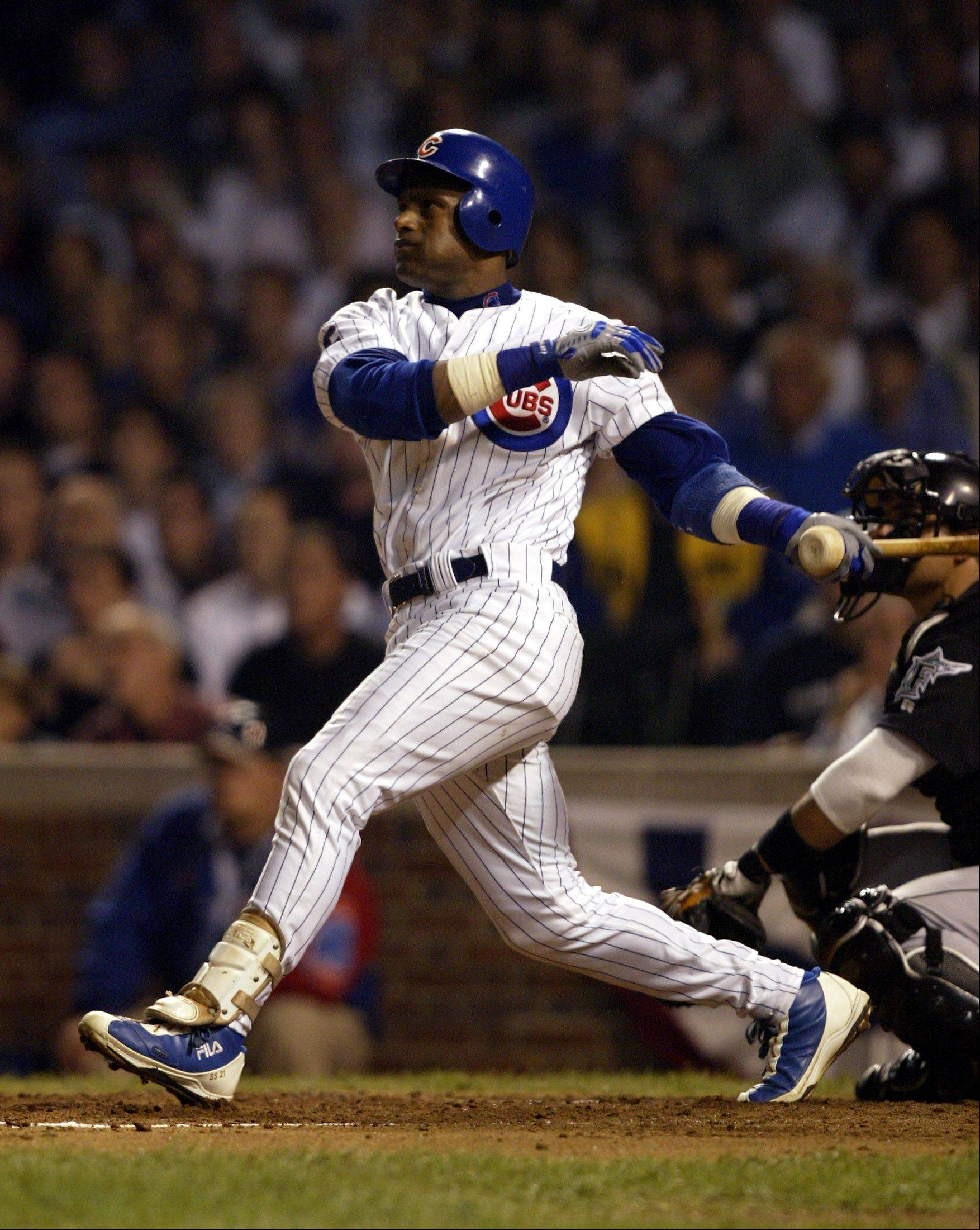 Former Cub right fielder Sammy Sosa is on the Baseball Hall of Fame ballot for the first time.