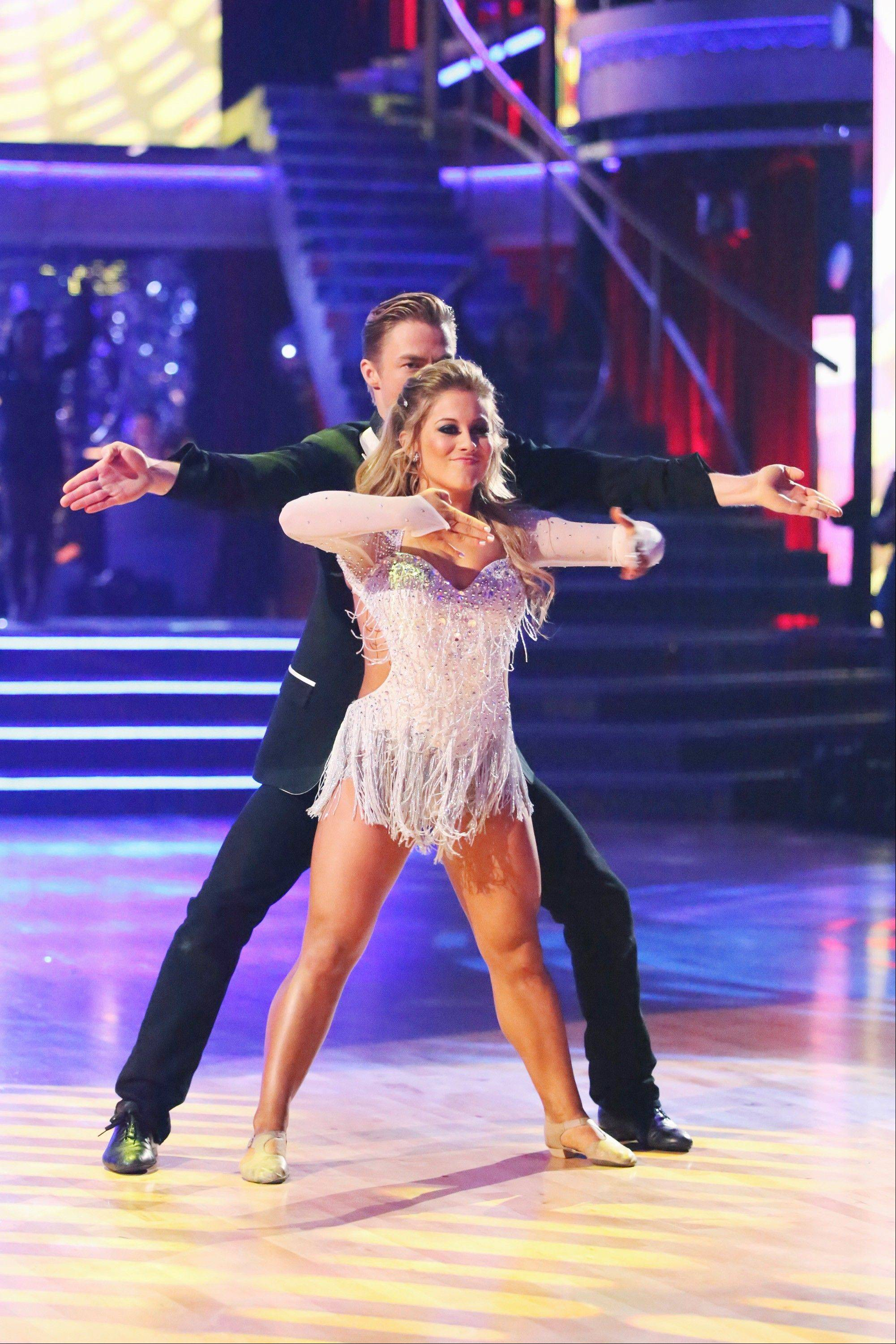 "Derek Hough and Olympian Shawn Johnson gave it their all but came up short in ""Dancing With the Stars: All-Stars."""