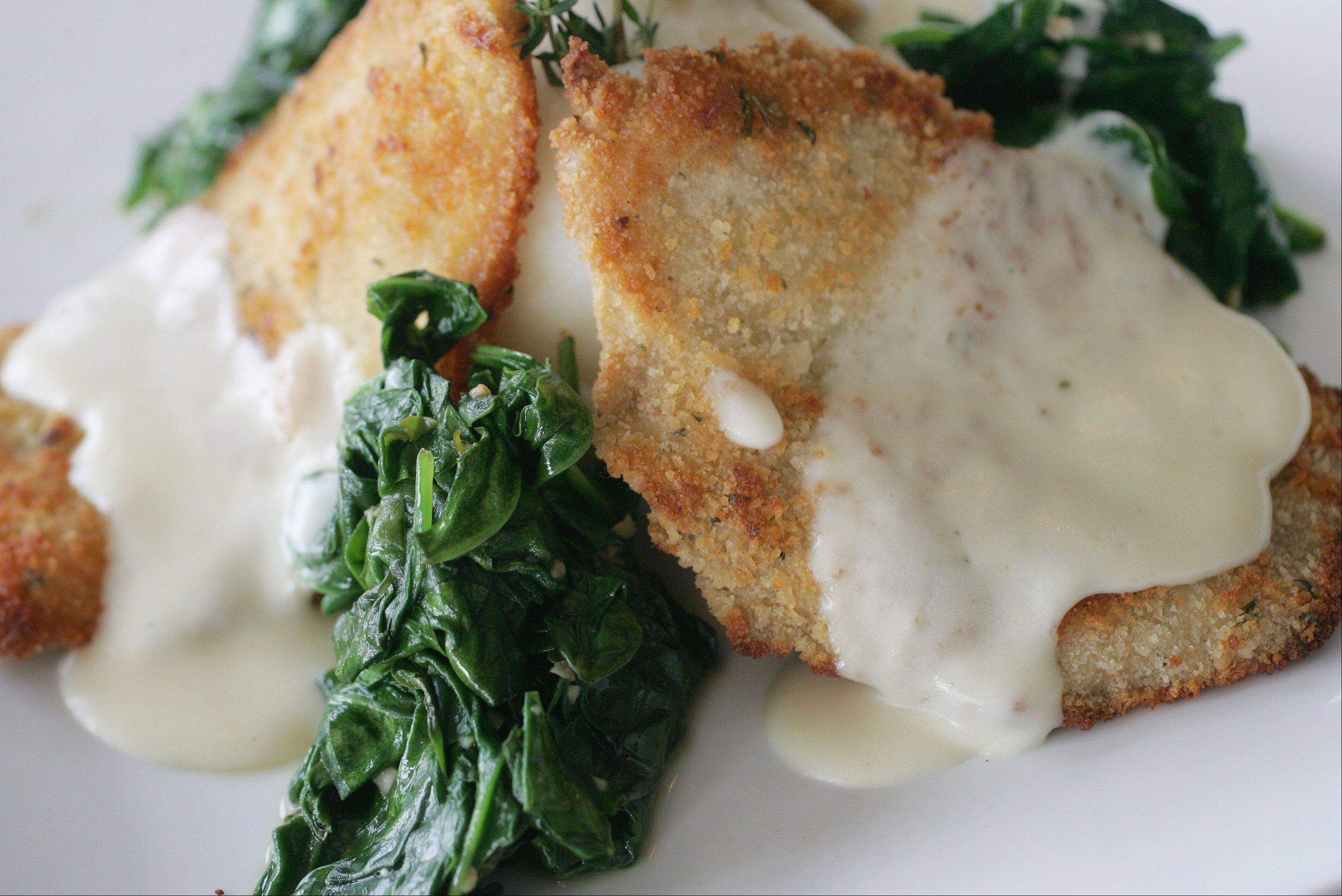 Jameson Chicken, served with mashed potatoes and spinach, comes topped with a whiskey cream sauce at Middleton's On Main in Wauconda.