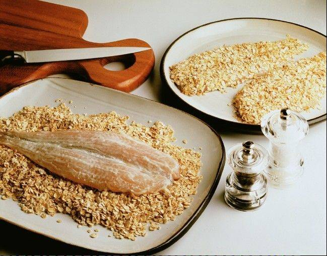 John Brown's Trout in Oatmeal
