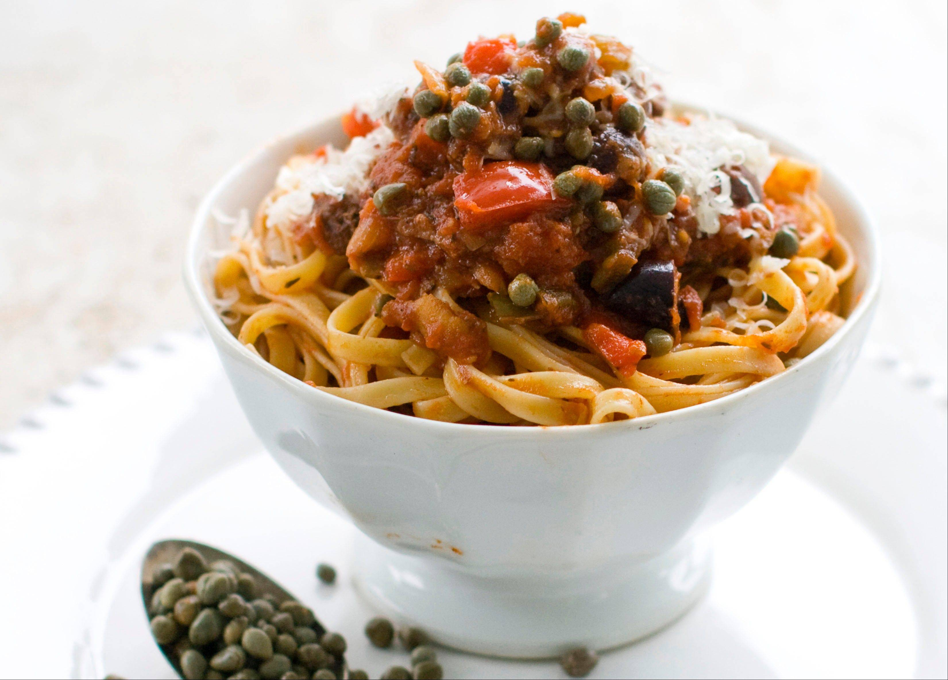 Capers star as a classic ingredient in puttanesca pasta sauce.