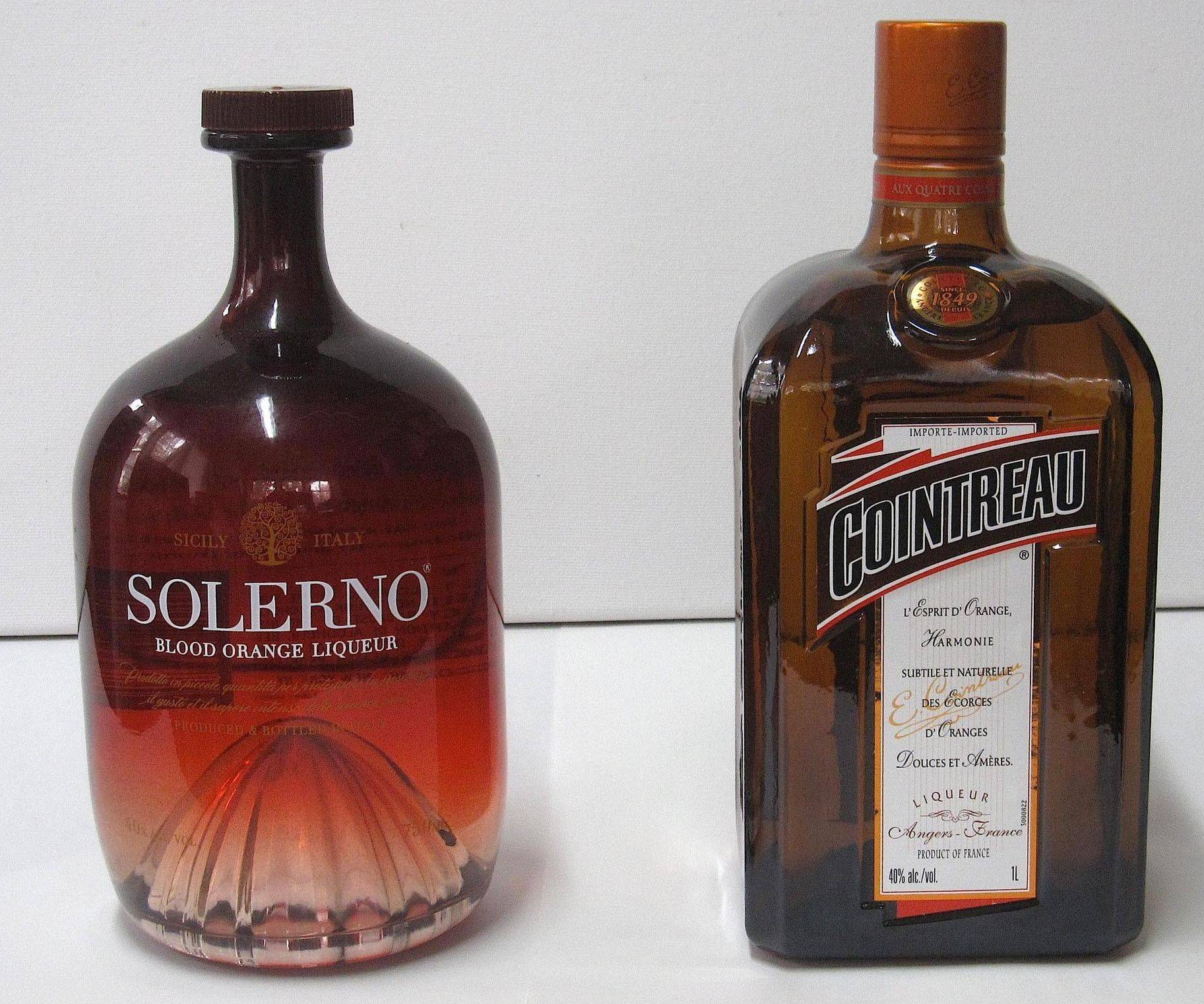 Italian Solerno is made with blood oranges. French Cointreau, long a high standard for orange liqueurs, is distilled using dried bitter orange peels.