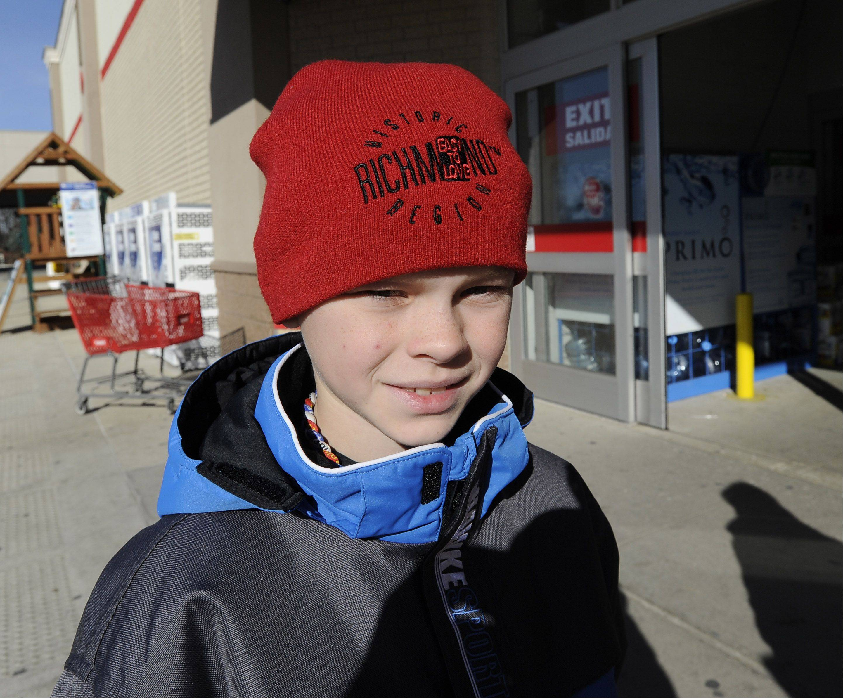 Blake Johnson, 10, of Arlington Heights
