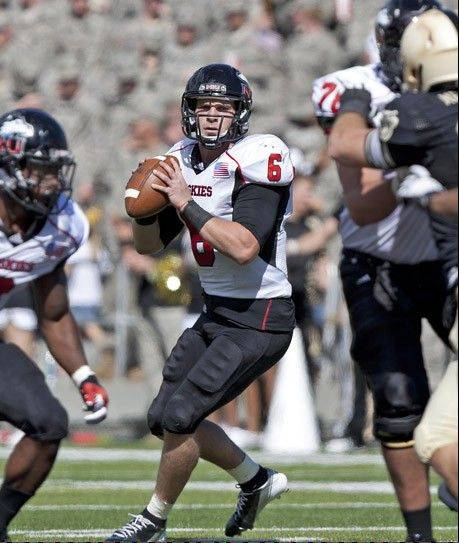 NIU quarterback Jordan Lynch was named the 2012 Vernon Smith Leadership Award winner on Wednesday as the MAC's top performer, and the conference's top offensive player for the season. He'll lead the No. 22-ranked Huskies against No. 17 Kent State in the MAC Championship game Friday in Detroit.