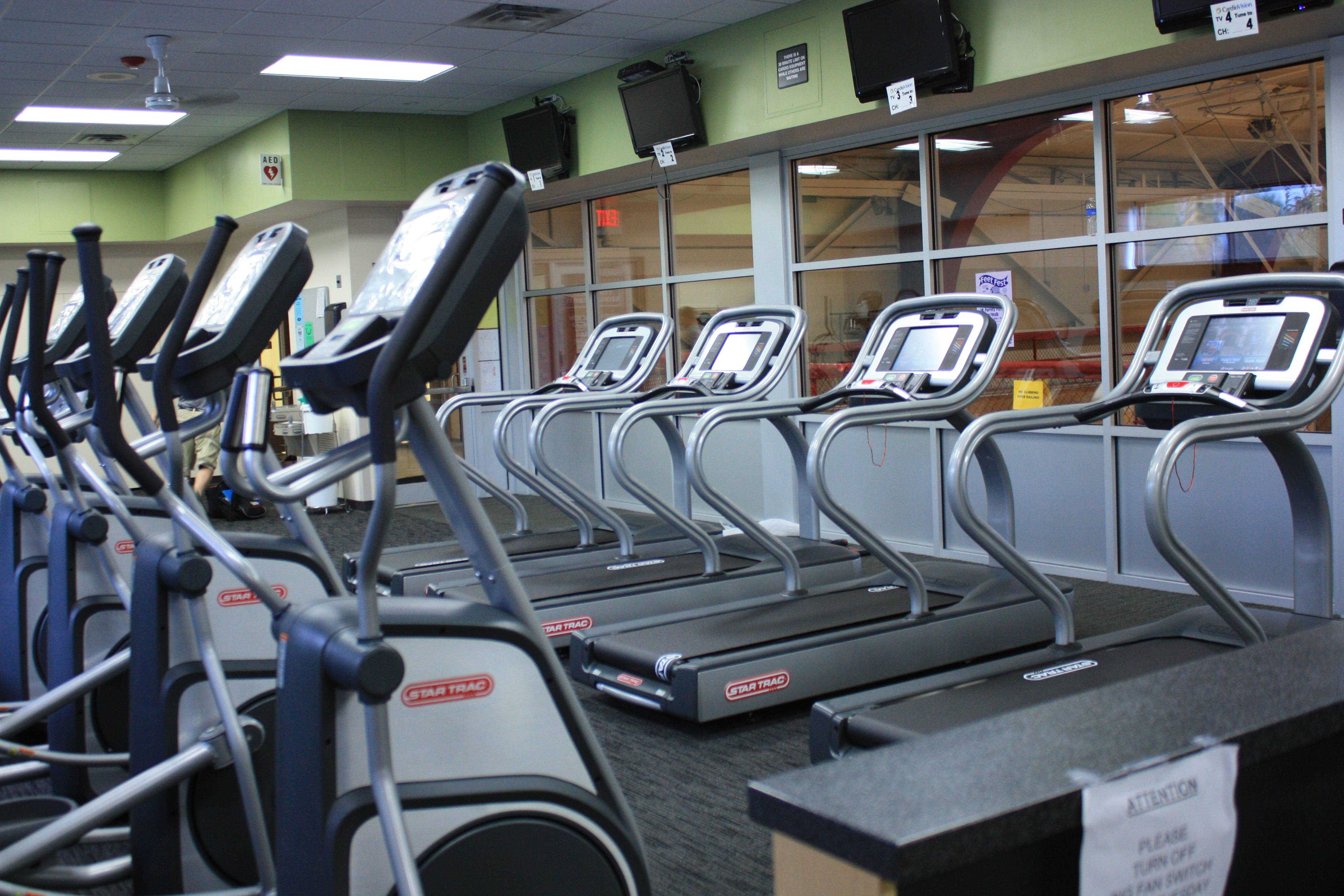 New cardio equipment was added to the fitness center in Summer of 2012.