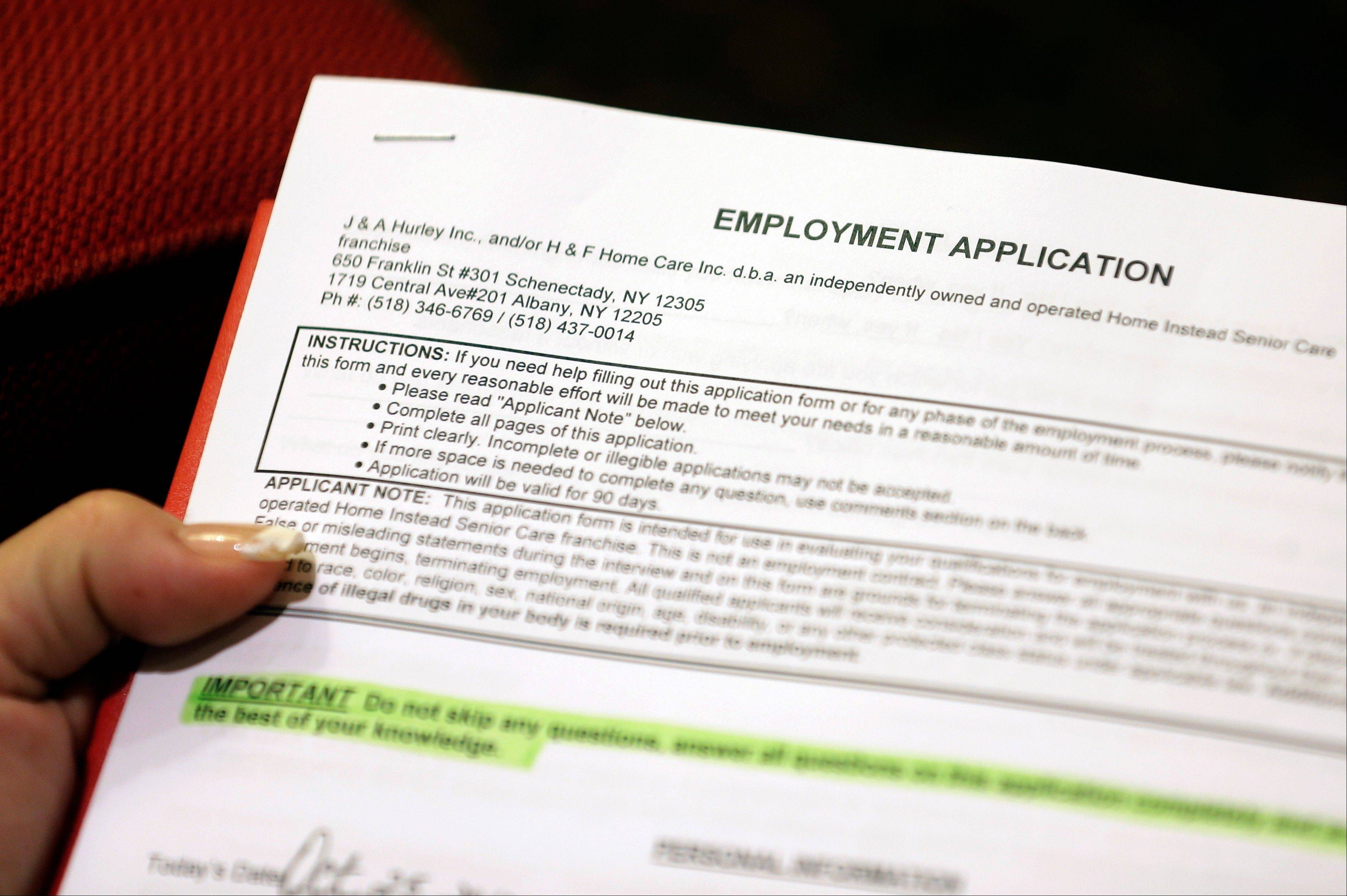 The number of Americans seeking unemployment benefits fell 23,000 to a seasonally adjusted 393,000 for the last full week of November 2012. It was the second straight drop after Superstorm Sandy had driven applications much higher earlier in November