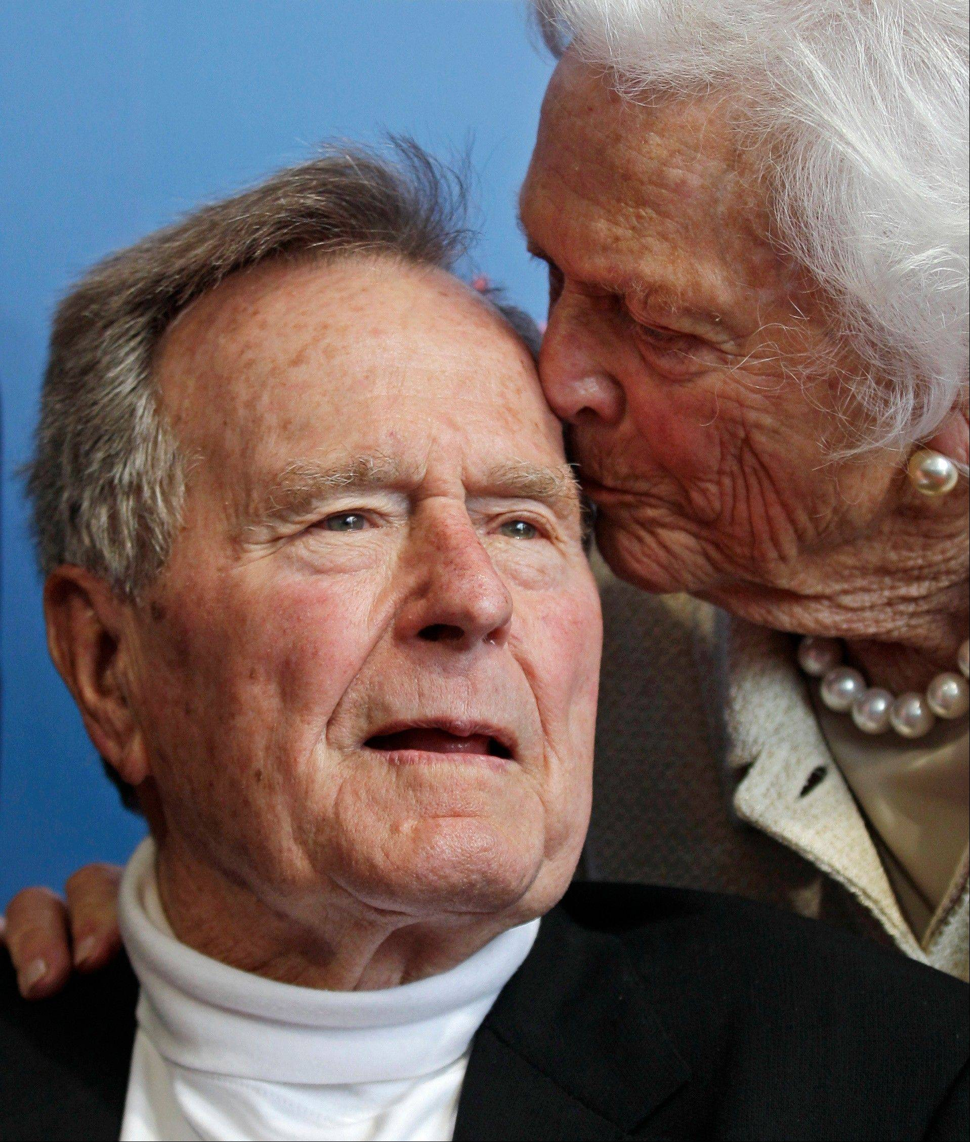 Former President George H.W. Bush has been hospitalized for about a week in Houston for treatment of a lingering cough. Bush�s chief of staff, Jean Becker, says the 88-year-old former president is being treated for bronchitis at Houston�s Methodist Hospital and is expected to be released by the weekend. He was admitted Friday.