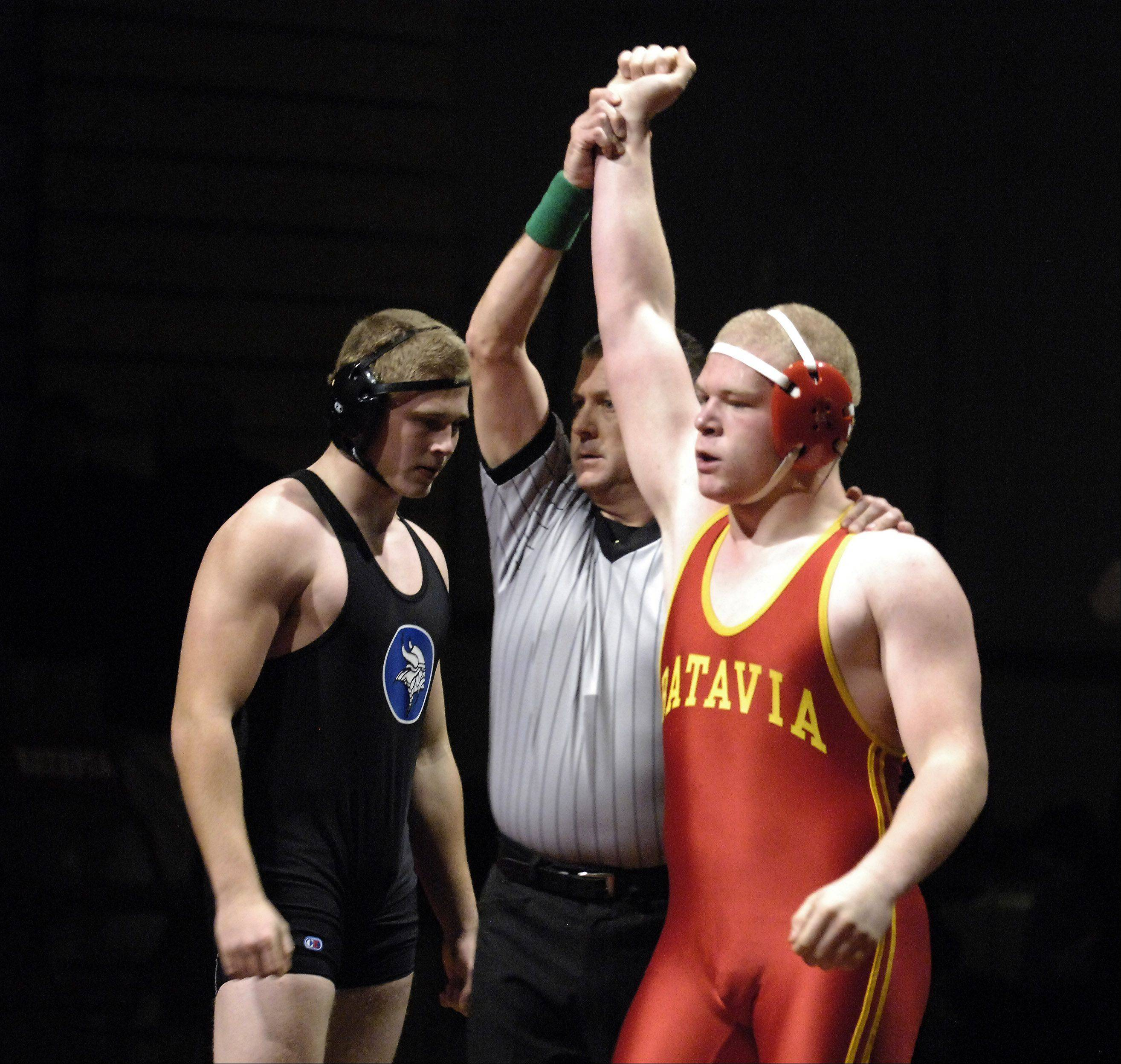 Batavia's Connor McKeehan defeated Geneva's Stephen Kemp.