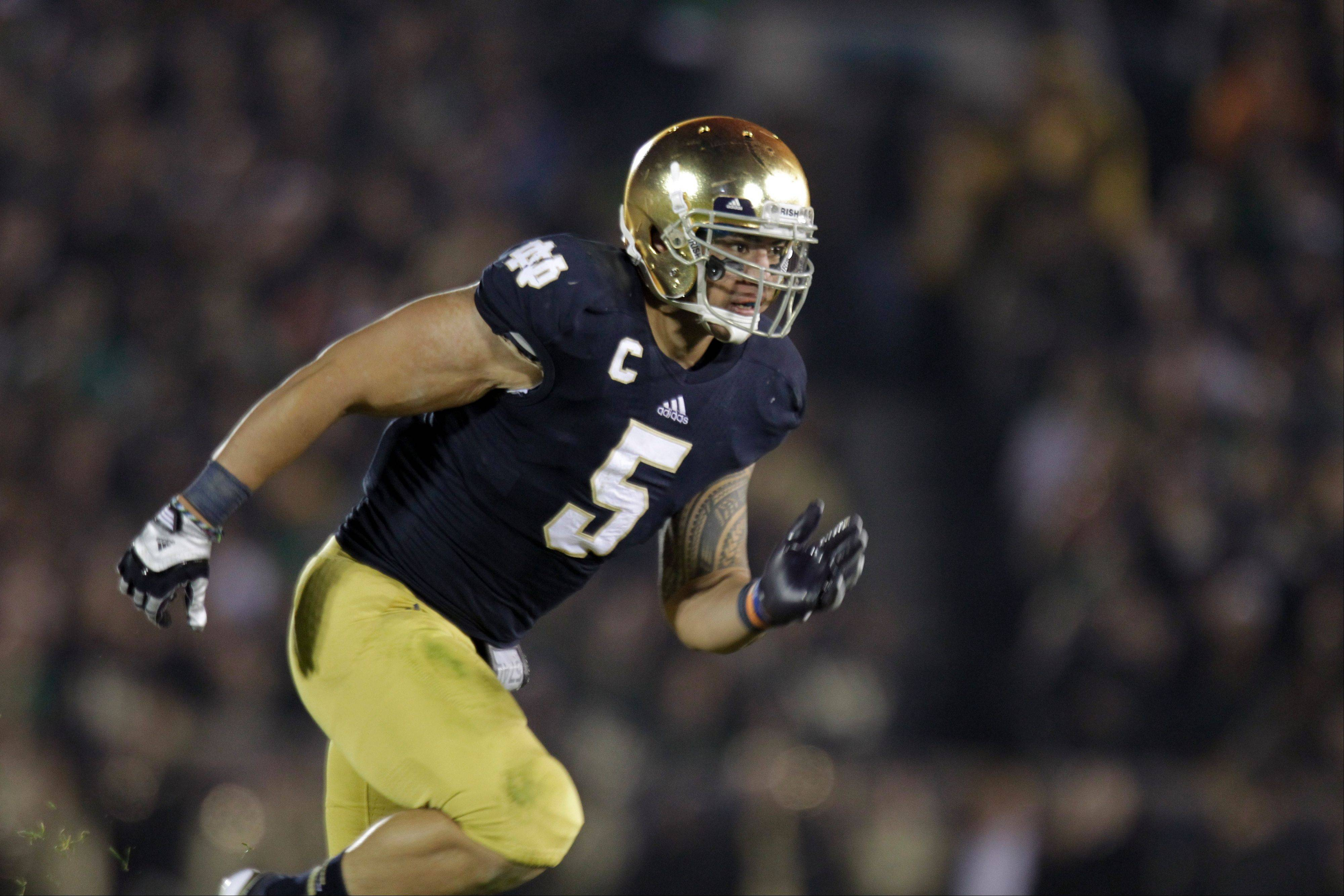 Notre Dame linebacker Manti Te'o is a contender for the Heisman Trophy and a great linebacker, but he won't get Mike Imrem's vote.