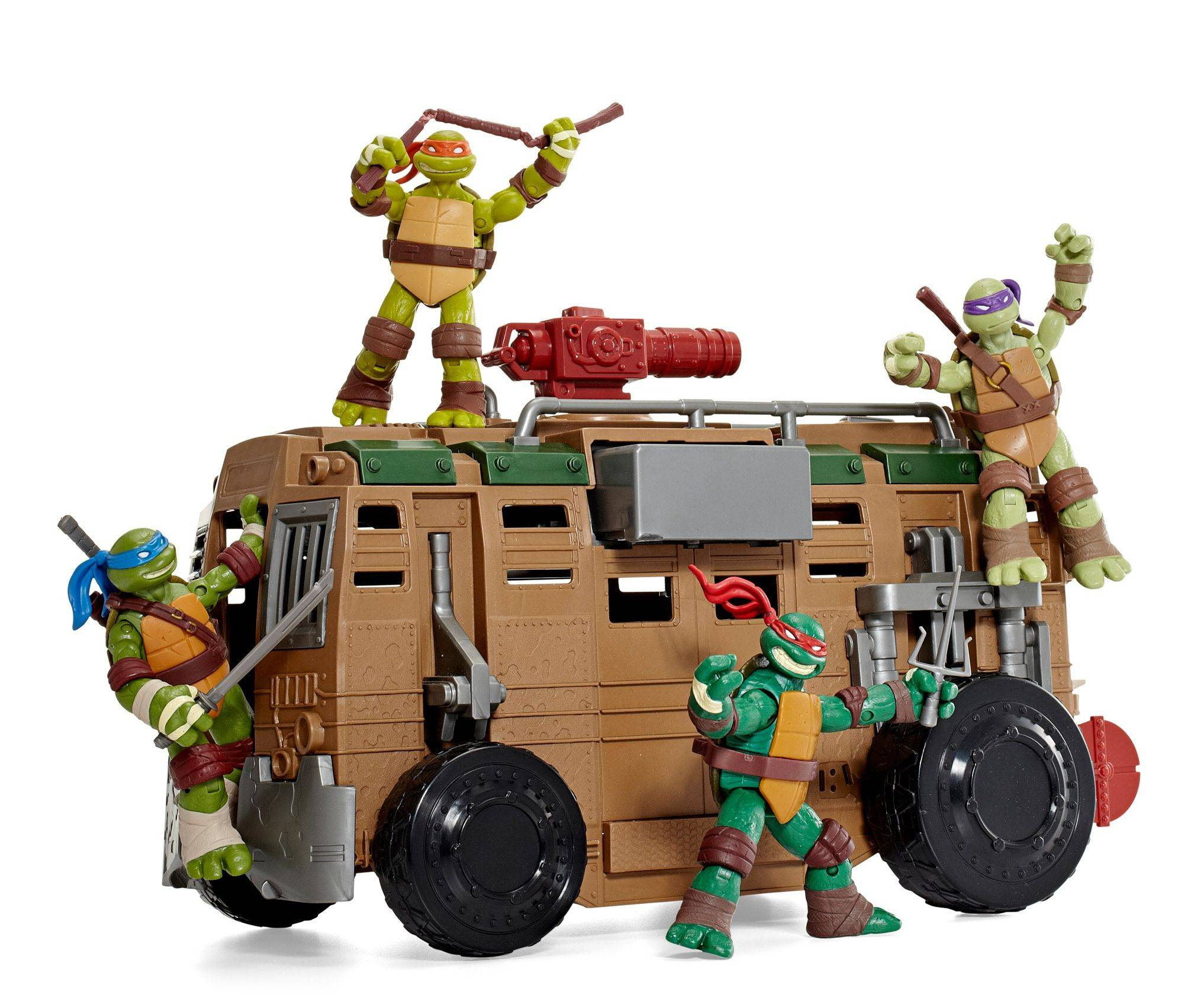 Playmates Shellraiser toy with Teenage Mutant Ninja Turtles, sold separately.