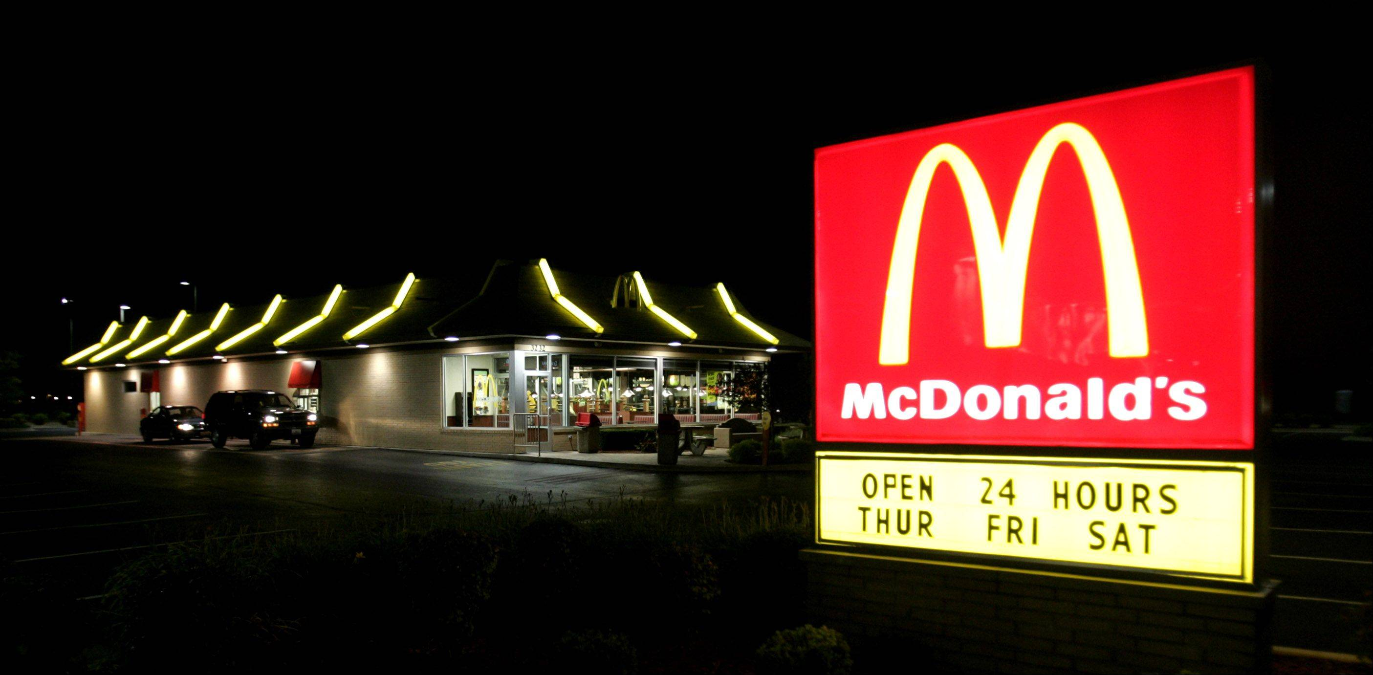A 24-hour McDonald's, in Naperville.