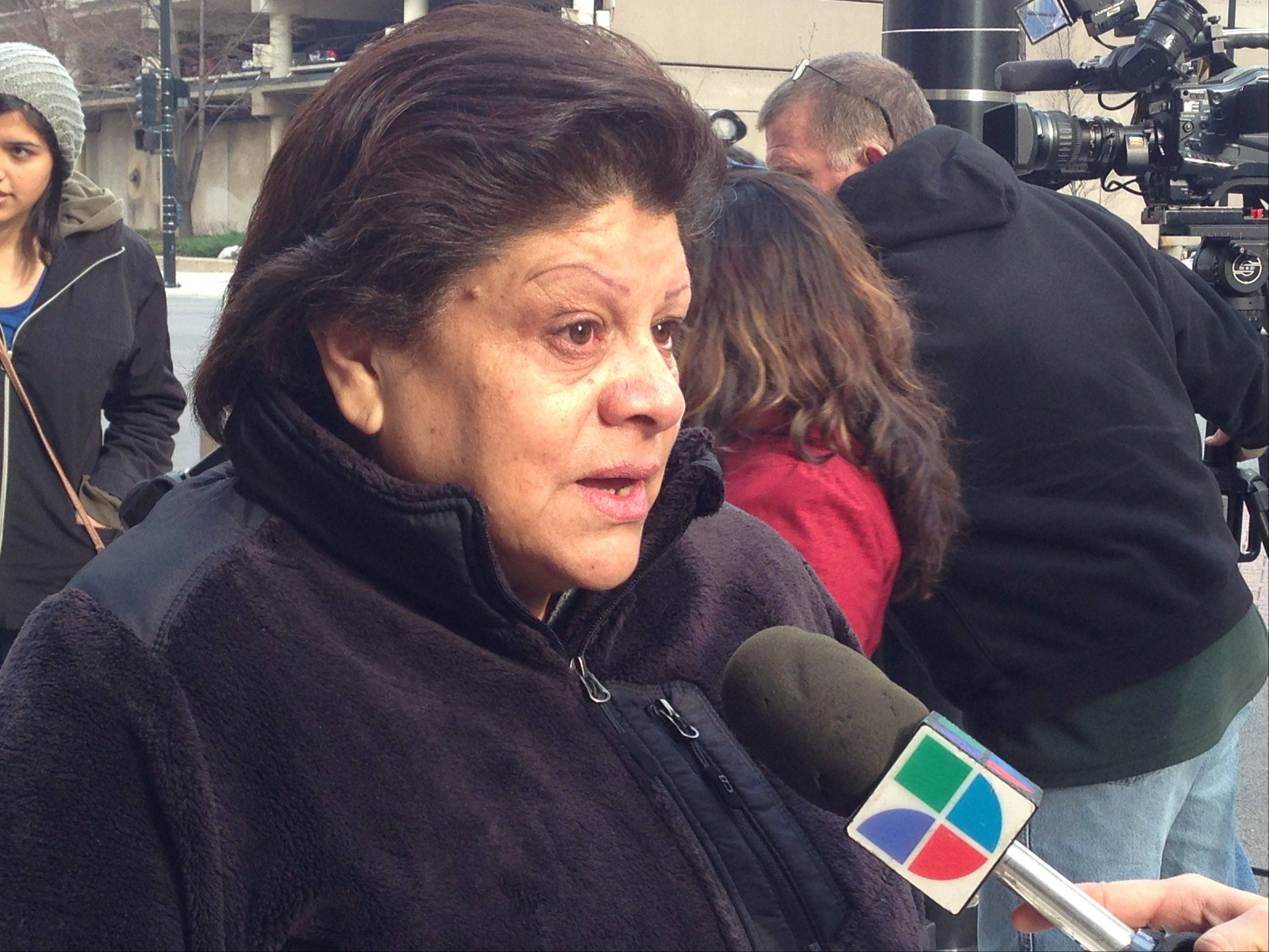 Sylvia Guerrero of Chicago wants authorities to release on bond her husband, Moises Torres, 64, and son Omar Torres, 31, who were rounded up during an immigration raid Thursday at an Elk Grove Village factory.