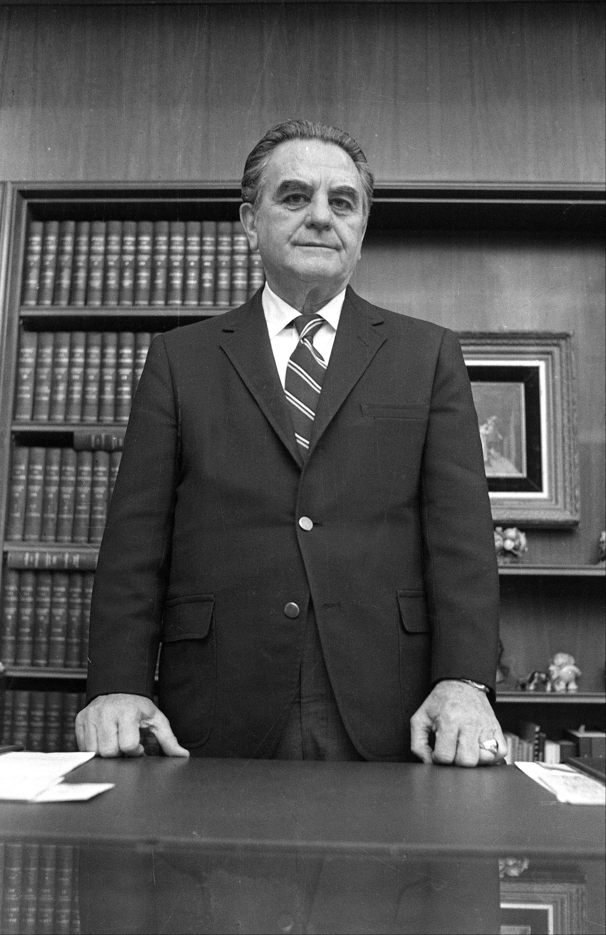 Associated Press/Jan. 31, 1973 U.S. District Court Judge John Sirica in his office in Washington.