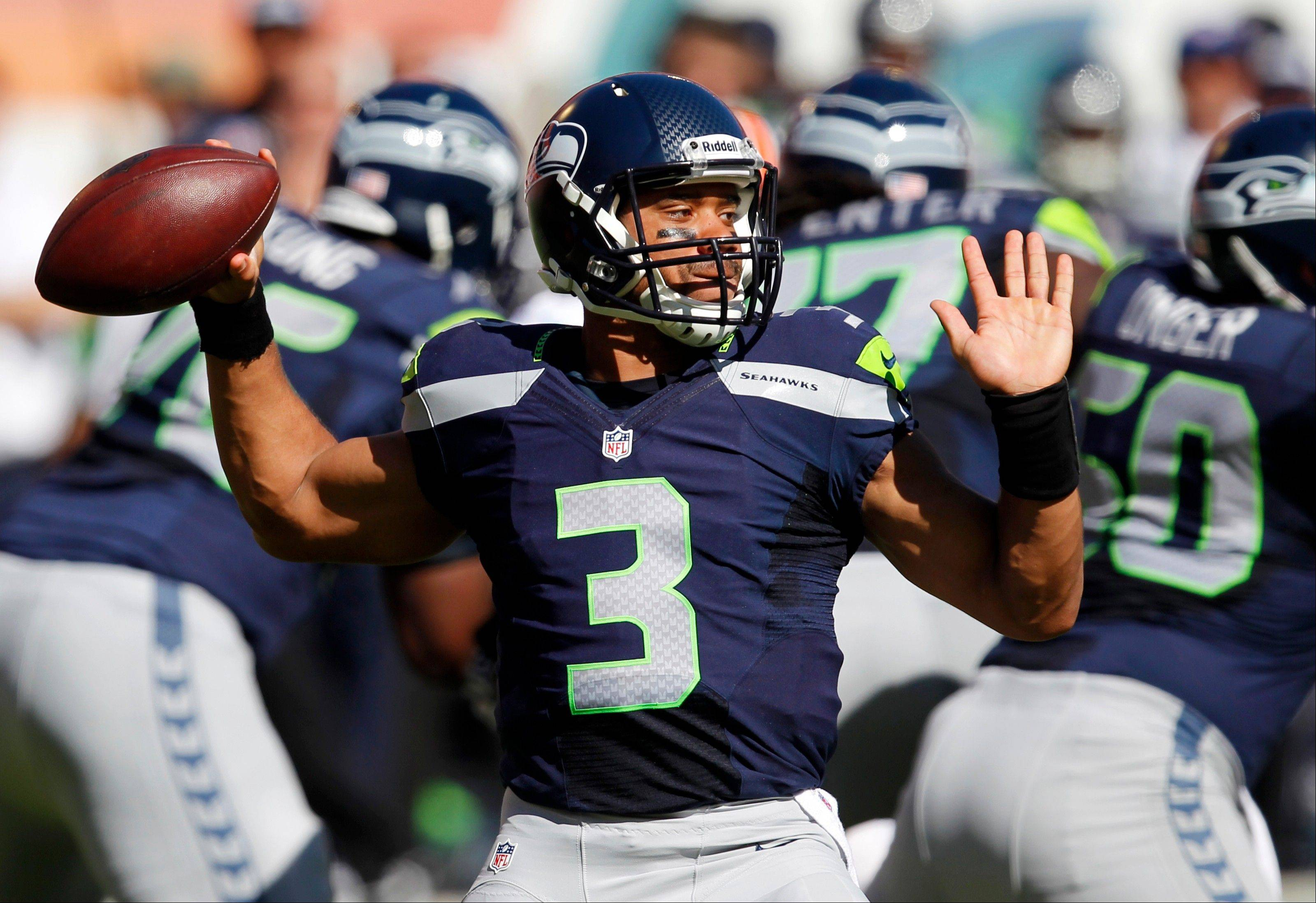 Seahawks rookie quarterback Russell Wilson has thrown for 2,051 yards with 17 TD passes and 8 interceptions in 11 games.