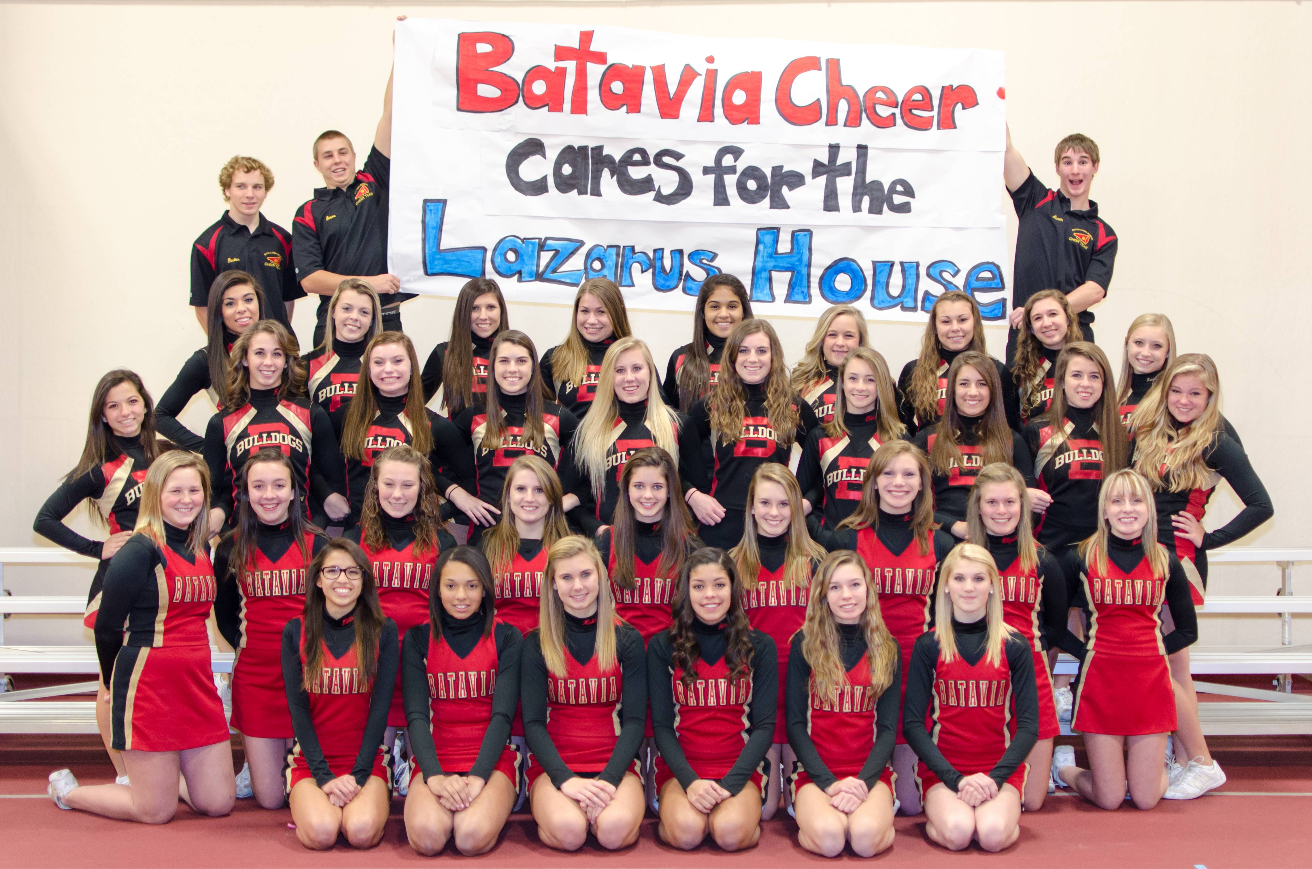 Batavia Cheer getting ready for their Flippin' n Flyin' Community Blitz!