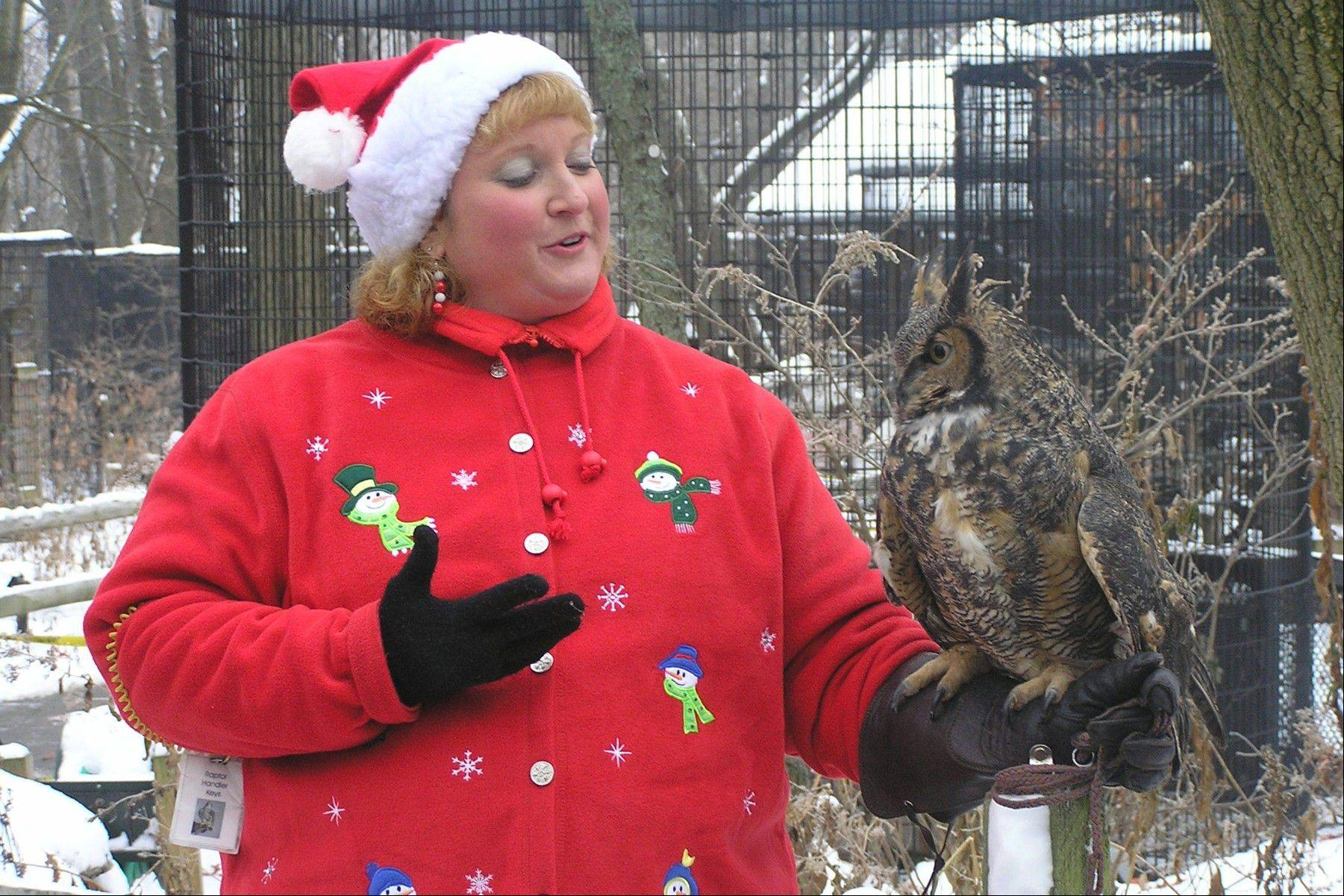 "Get an up-close look at some resident raptors and meet with Santa Claus at the ""Talons and Claus"" Open House on Saturday, Dec. 1, at the Willowbrook Wildlife Center in Glen Ellyn."