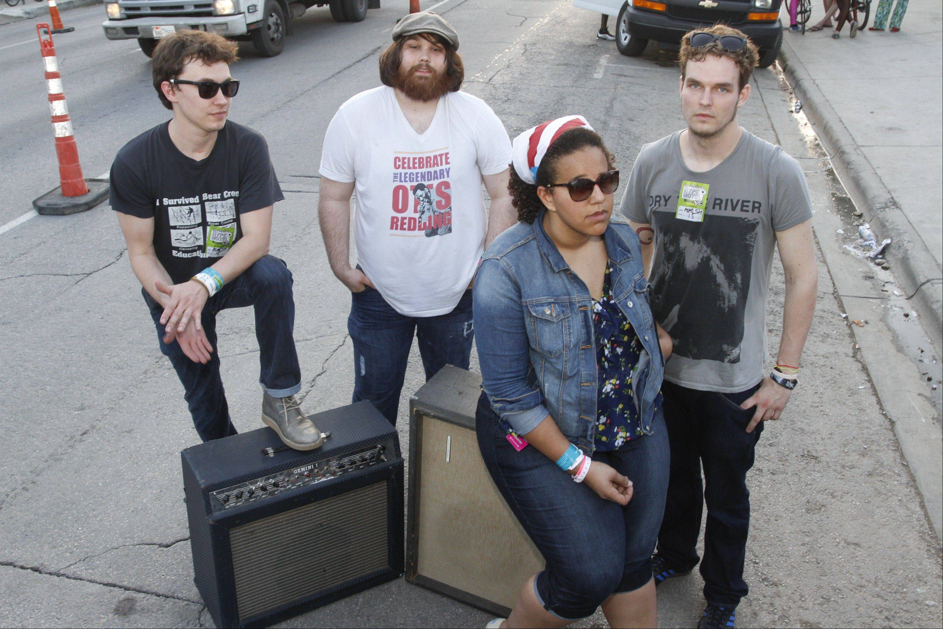 Alabama Shakes -- Heath Fogg, left, Zac Cockrell, Brittany Howard and Steve Johnson -- play the Chicago Theatre on Sunday, Dec. 2.