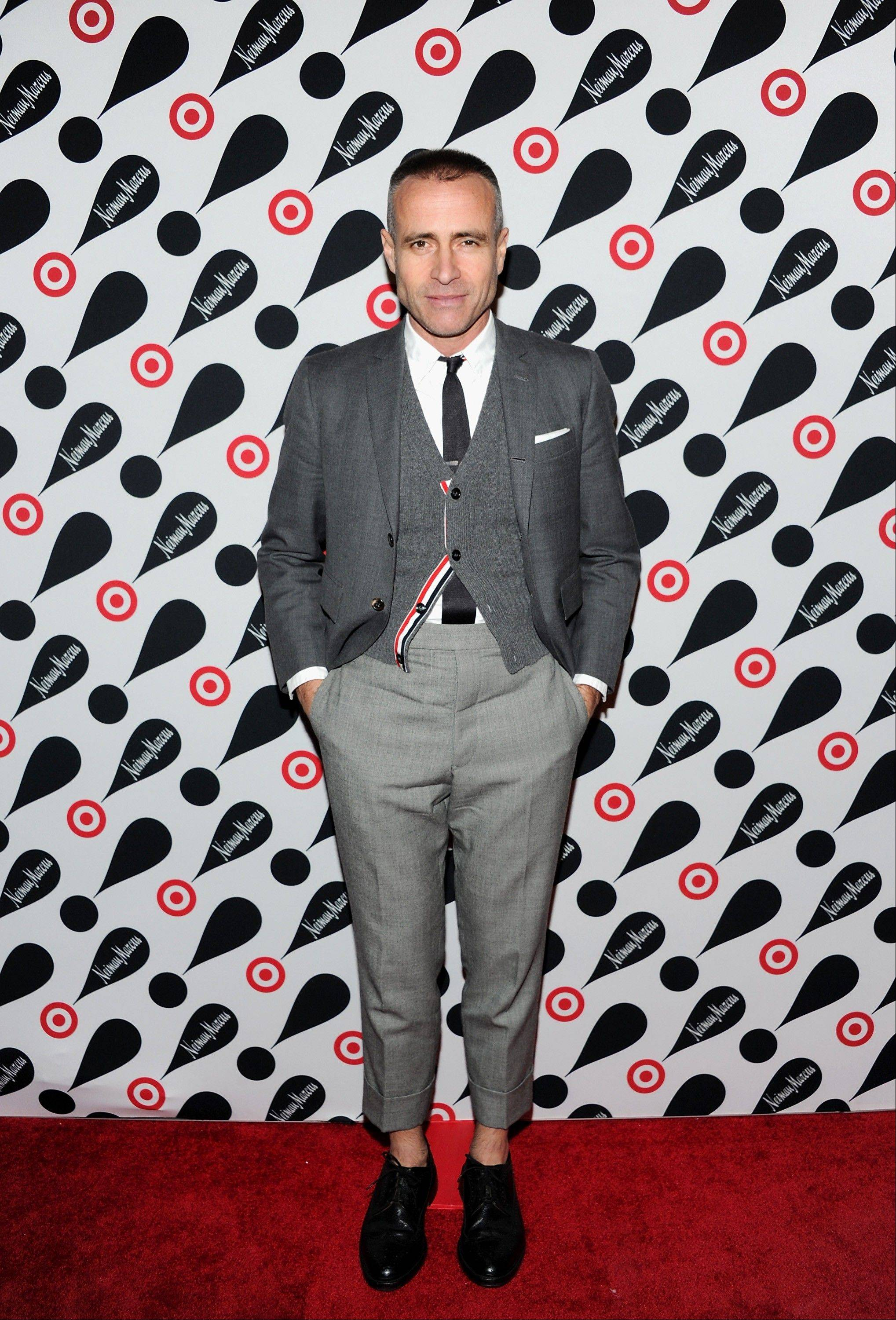 Designer Thom Browne attends the Target and Neiman Marcus holiday collection launch in New York.
