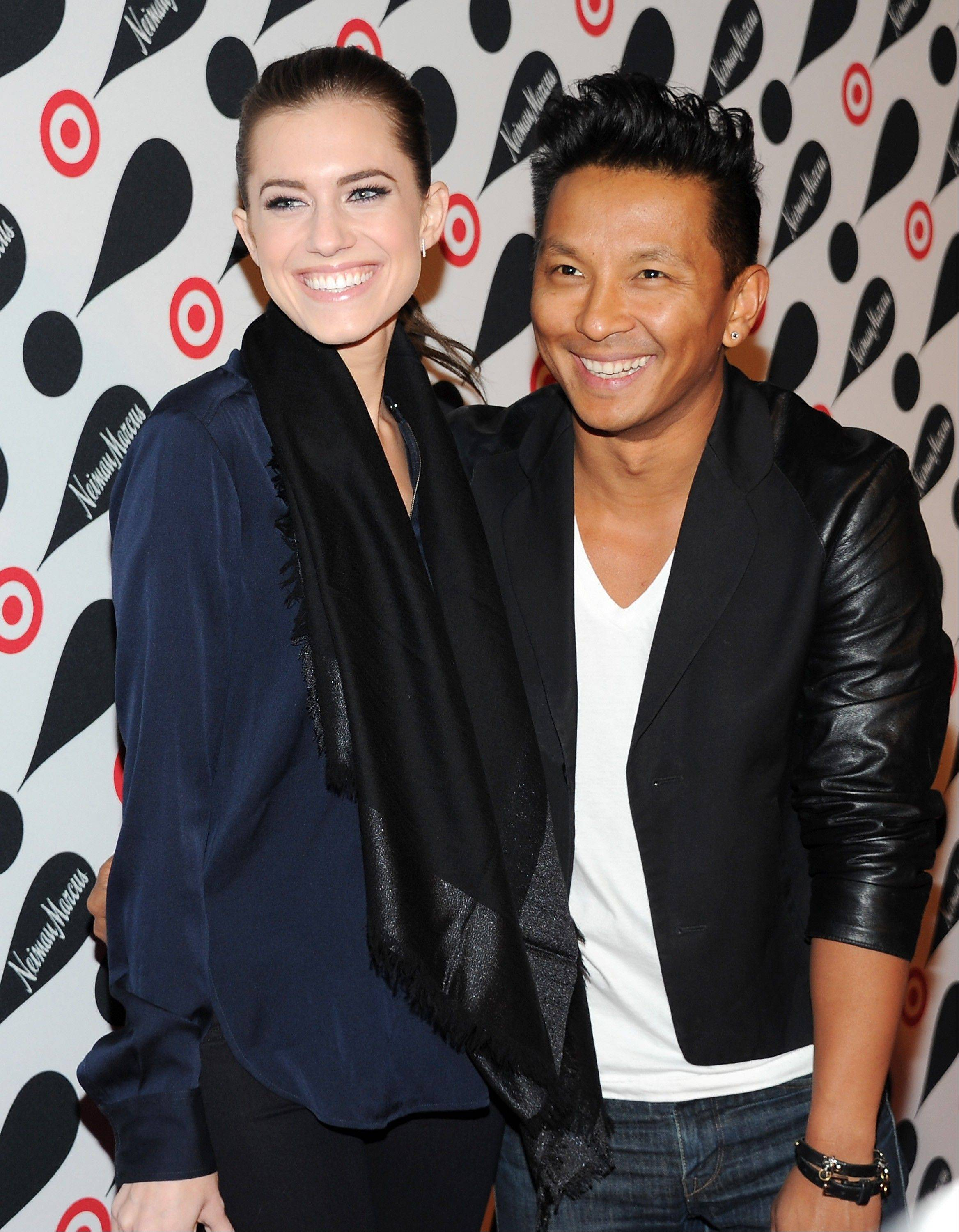 Actress Allison Williams and designer Prabal Gurung attend the Target and Neiman Marcus holiday collection launch in New York.
