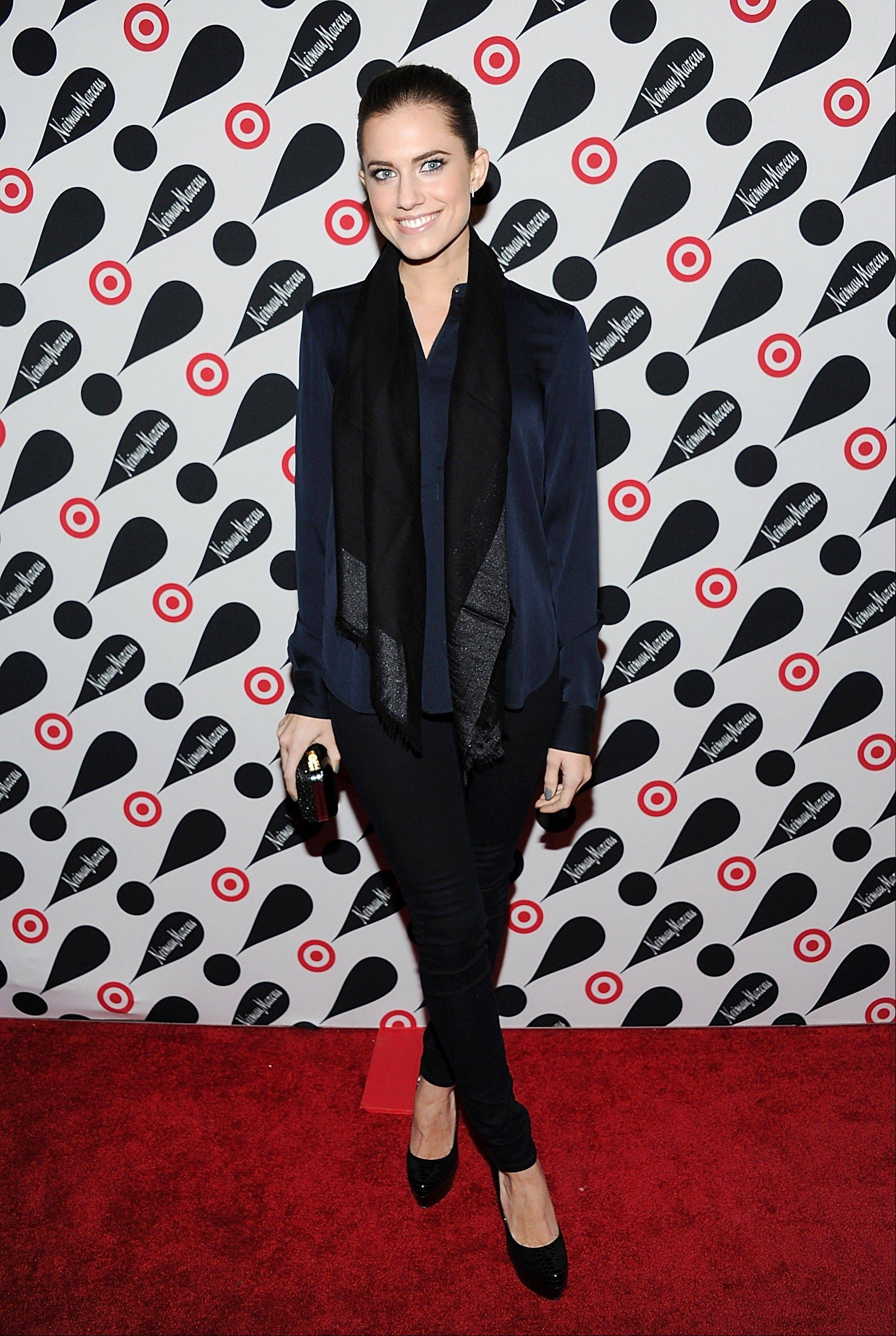 Actress Allison Williams attends the Target and Neiman Marcus holiday collection launch in New York.