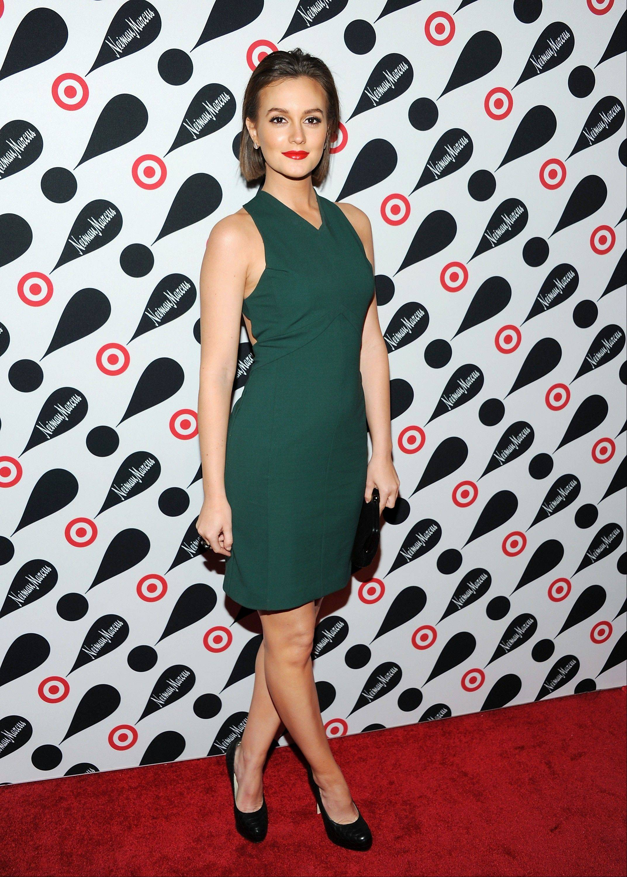 Actress Leighton Meester attends the Target and Neiman Marcus holiday collection launch in New York.
