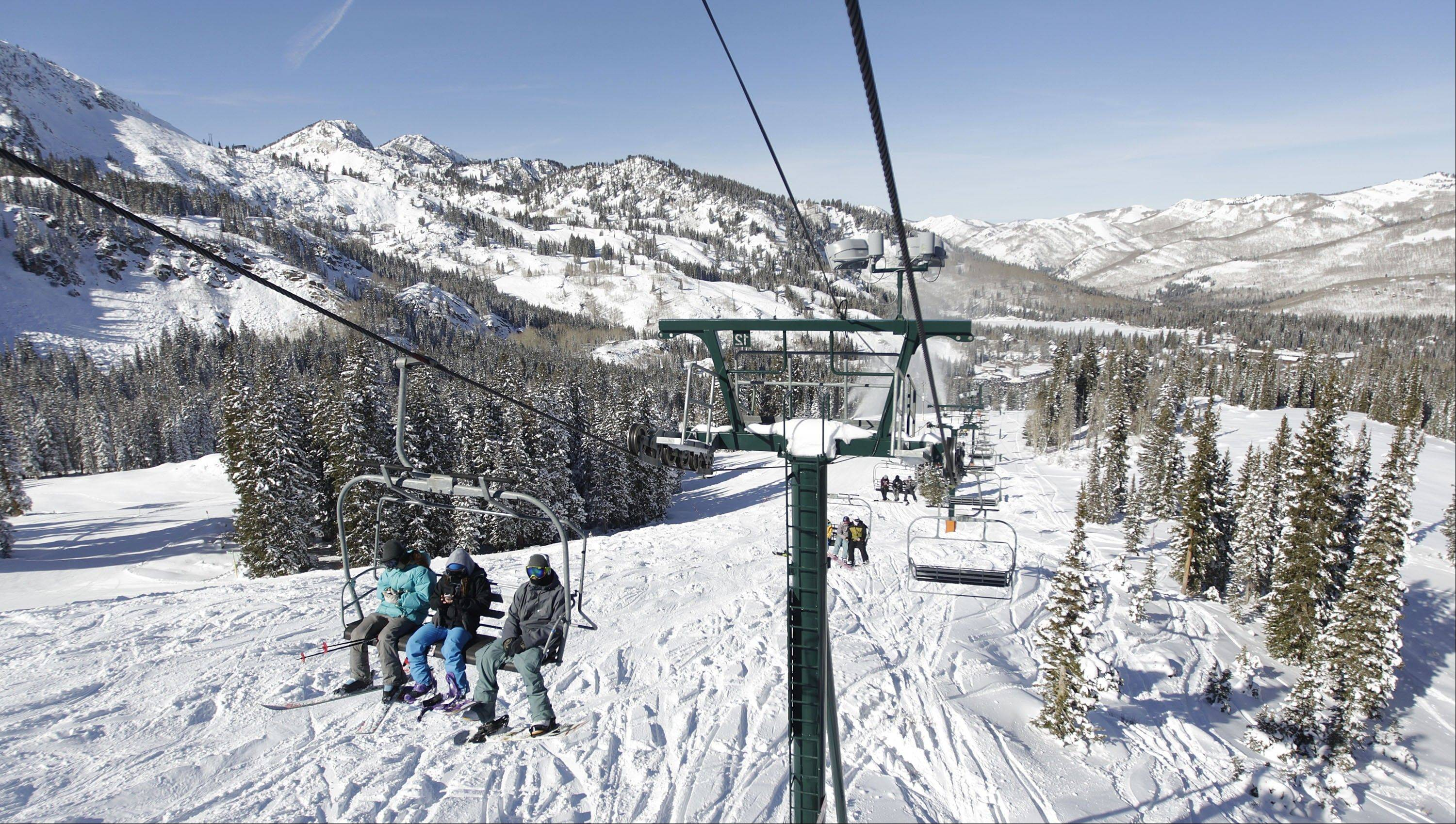 The Brighton Ski Resort is in the middle of the Wasatch Range's seven resorts.
